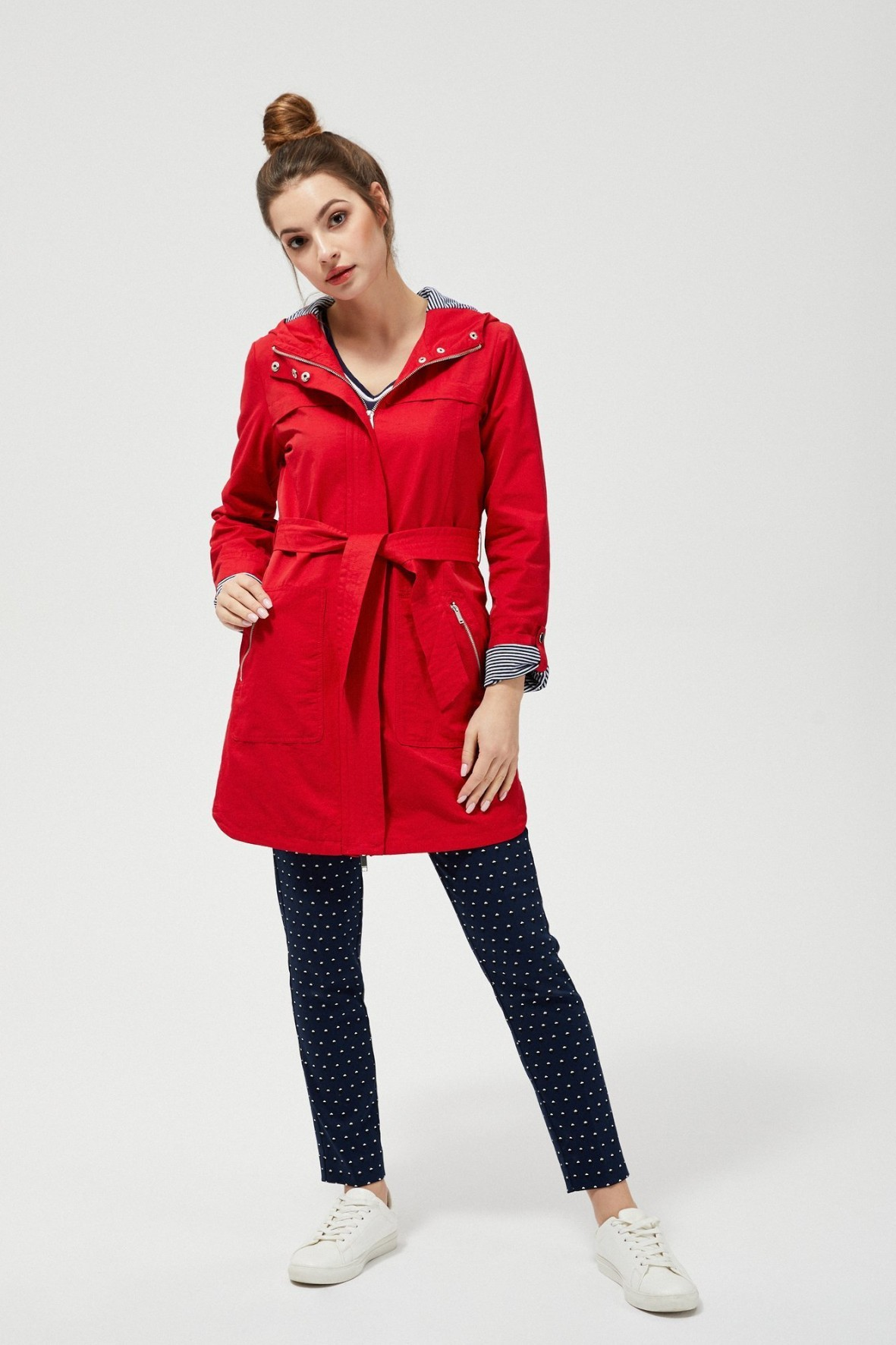 Wiosenna kurtka damska - czerwona