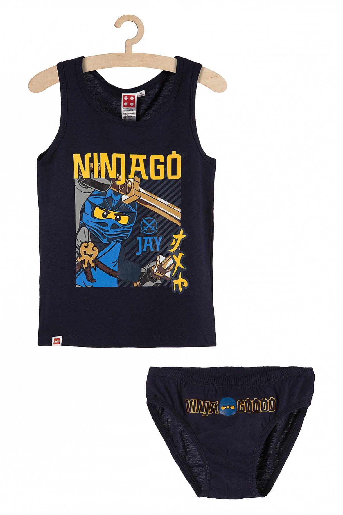 Bielizna chłopięca majtki i koszulka na ramiączkach Lego Ninjago