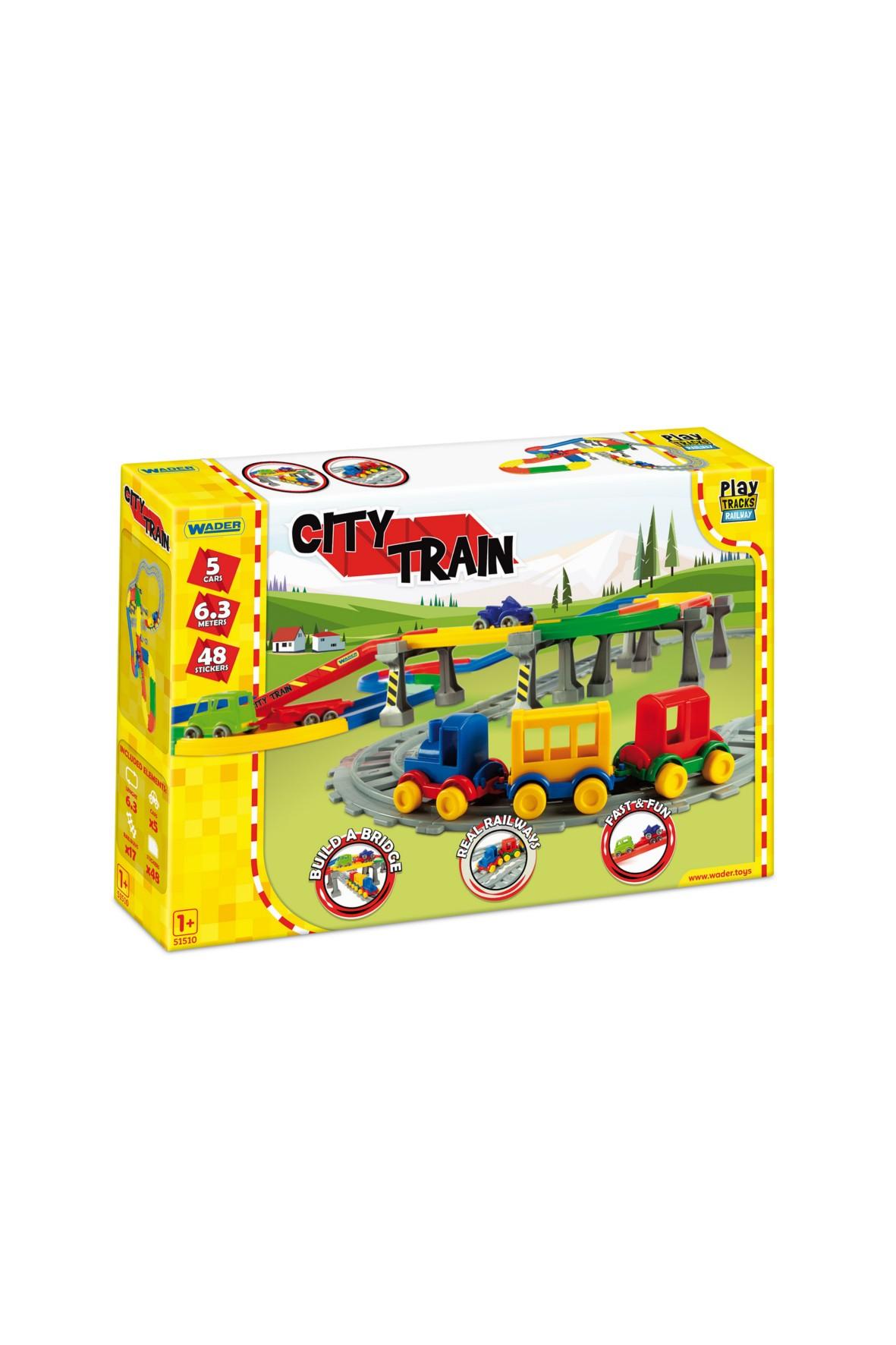 Klocki Play Tracks Railway - Kolejka miejska 12msc+