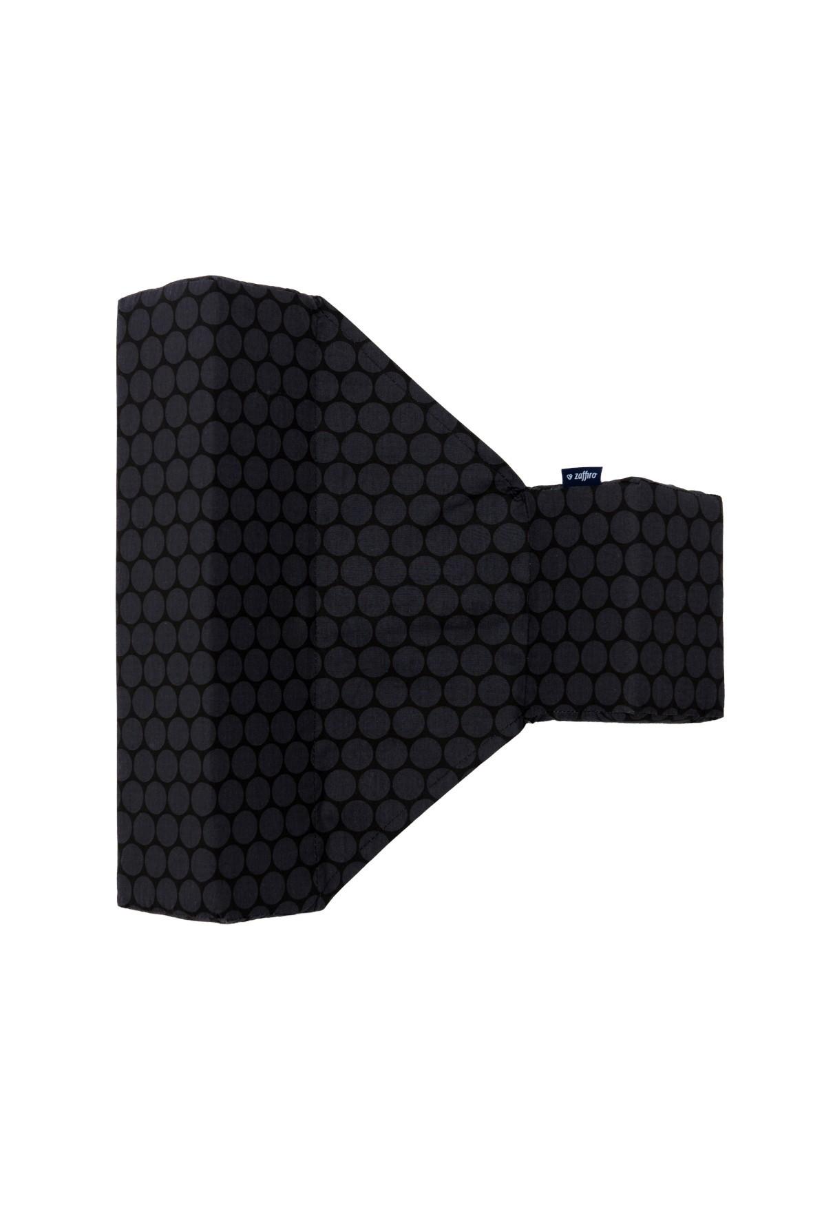 Ogranicznik trójkątny bawełna grochy grafitowo-czarne