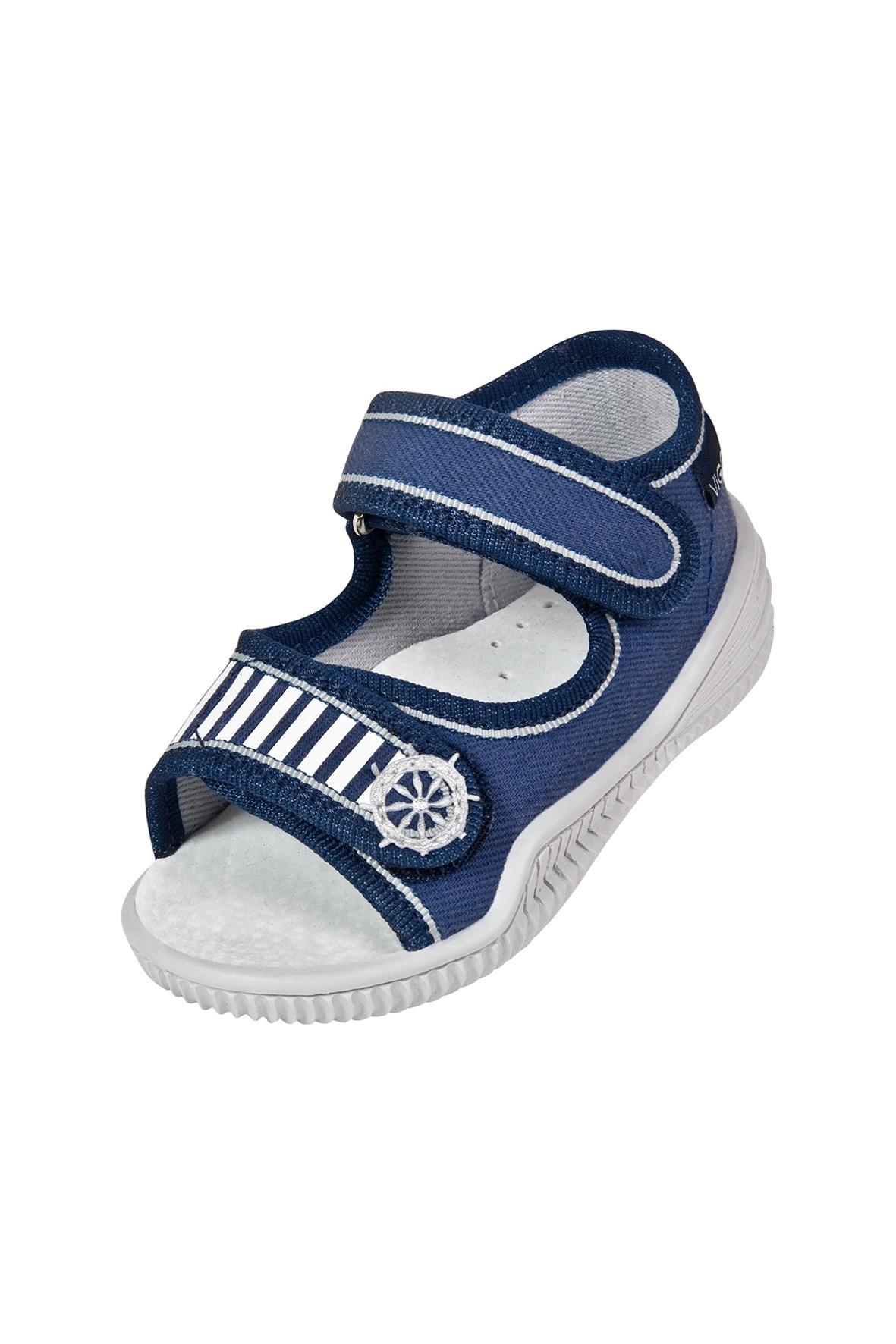 Buty chłopięce niebieskie zapinane na rzep