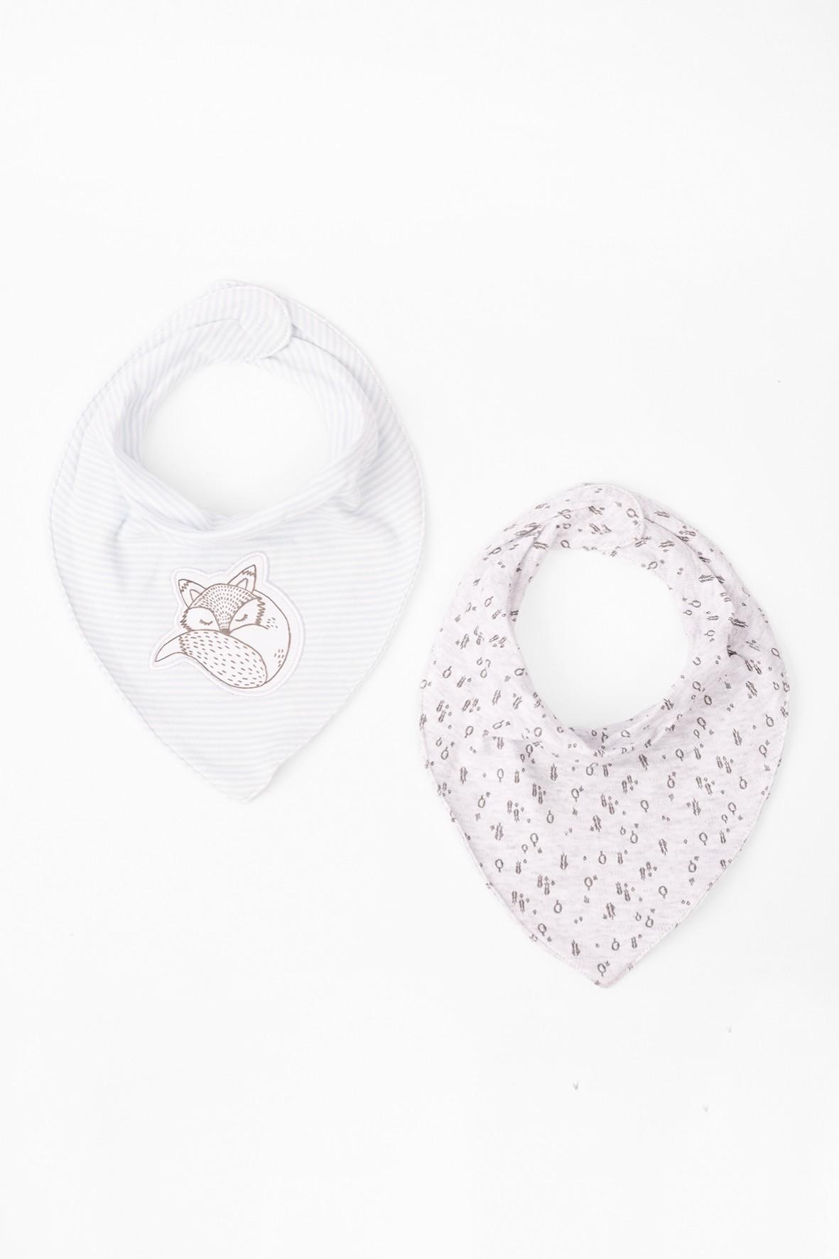 Apaszki niemowlęce bawełniane dwupak