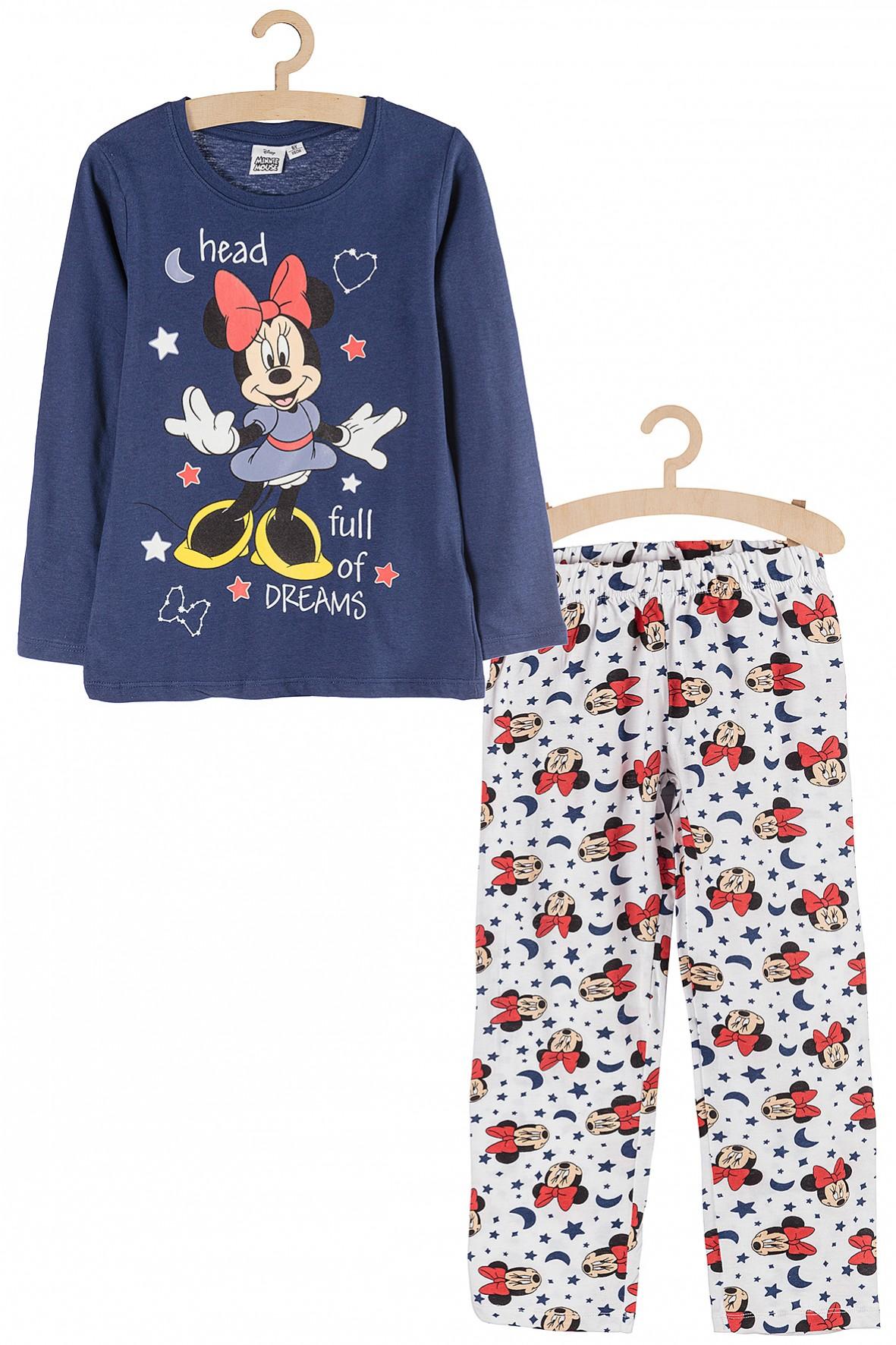 Piżama dziewczęca Myszka Minnie- kolorowe nadruki