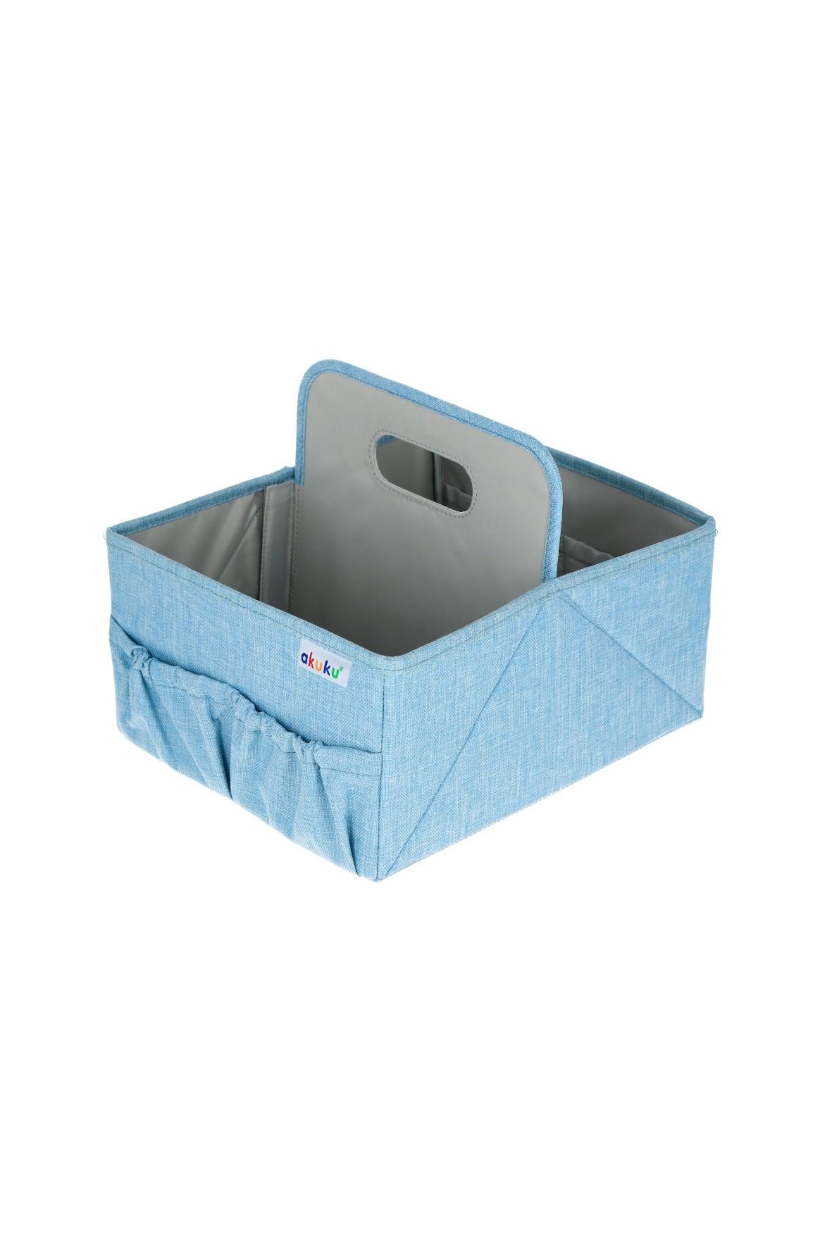 Organizer na pieluszki i akcesoria niebieski