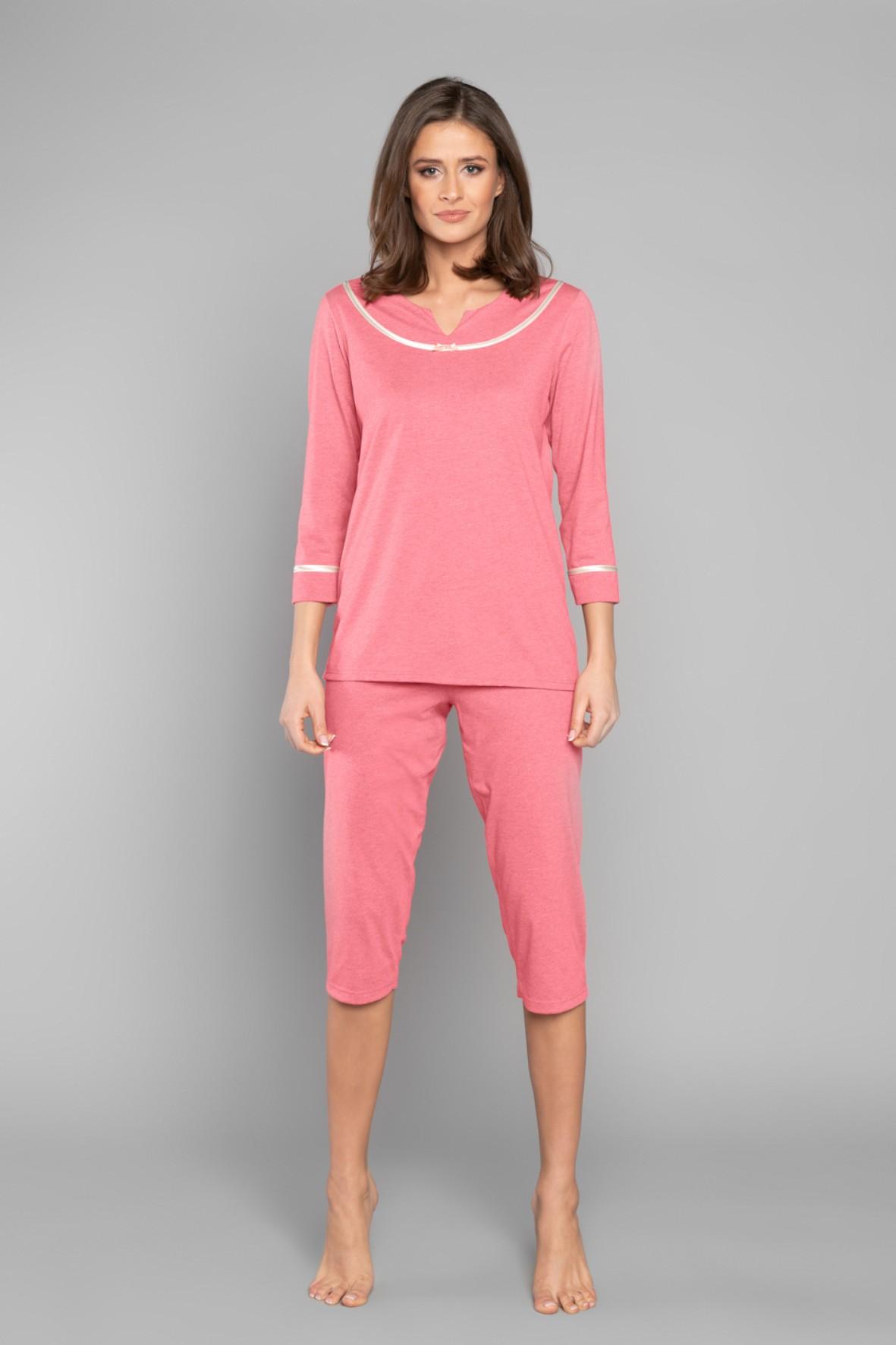 Piżama damska - t-shirt 3/4 rękaw i spodnie