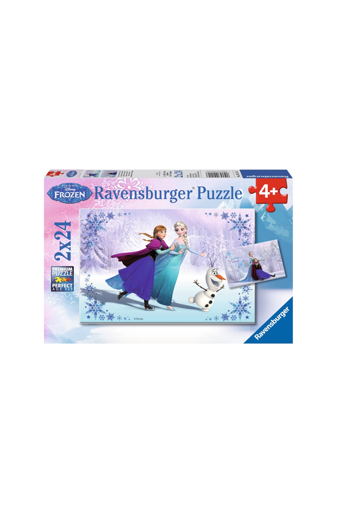 Puzzle Frozen Siostry 2 x 24 elementy 4+