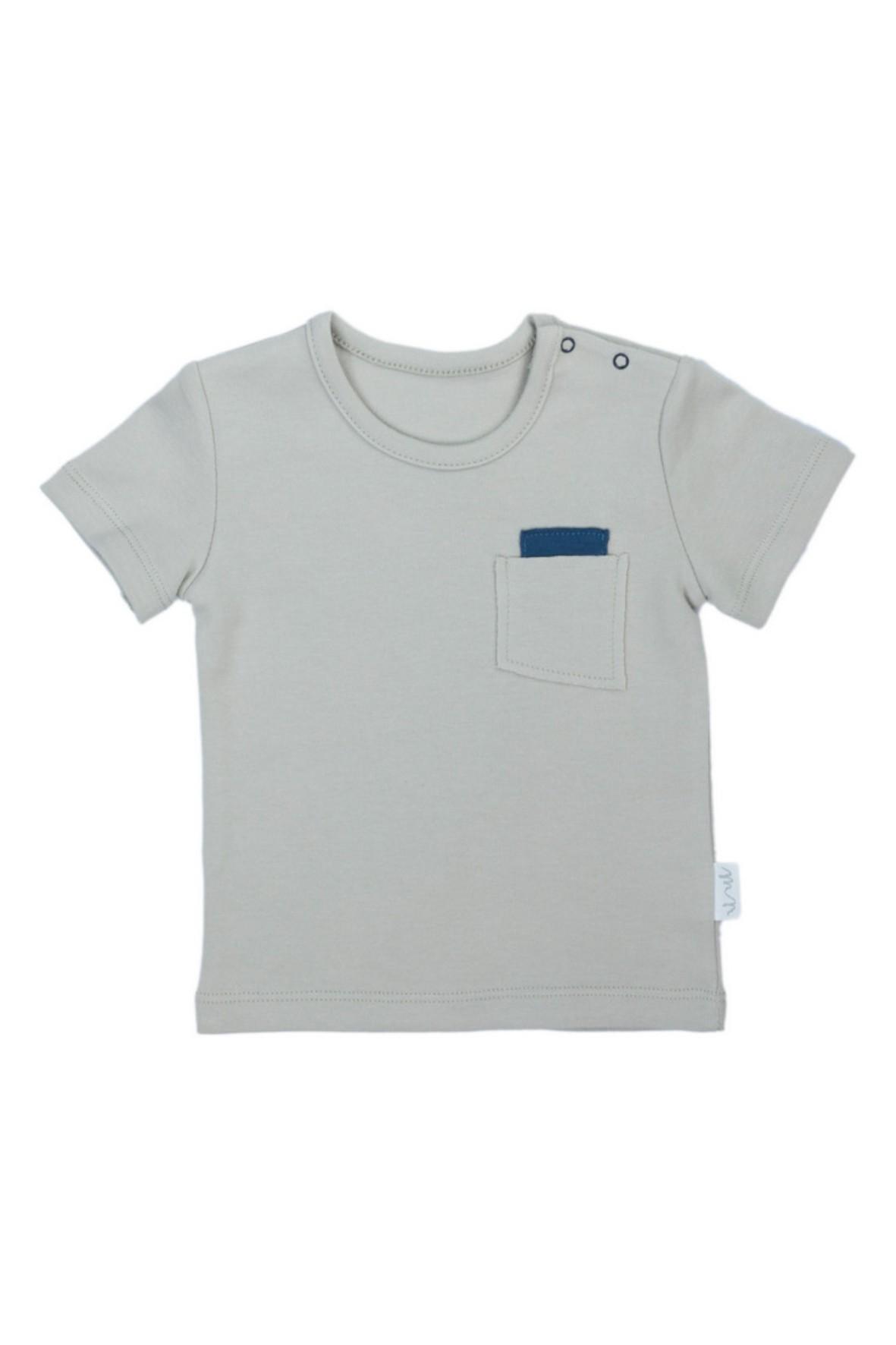 Koszulka chłopięca na lato z ozdobną kieszonką