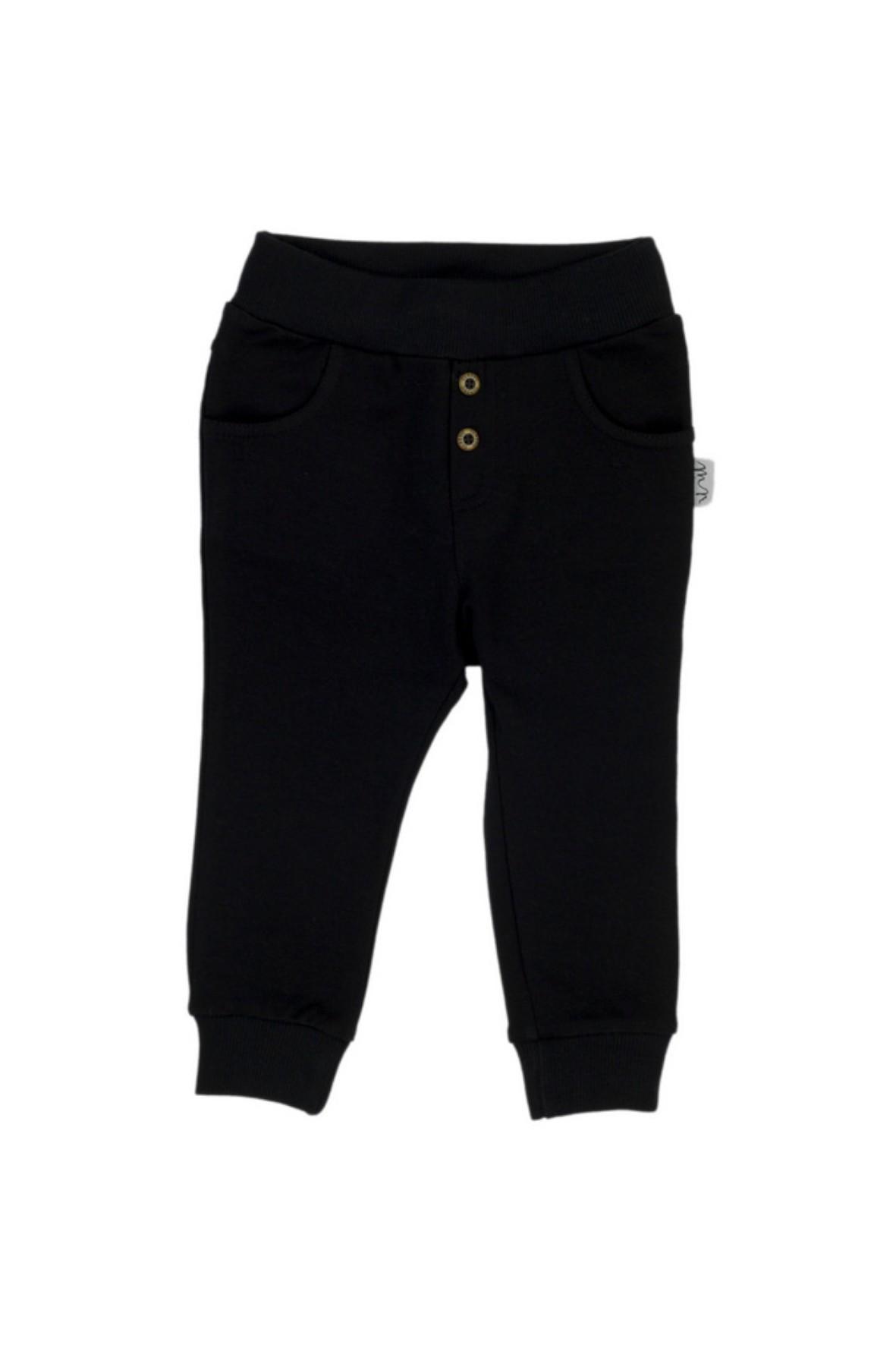 Czarne spodnie dresowe chłopięce