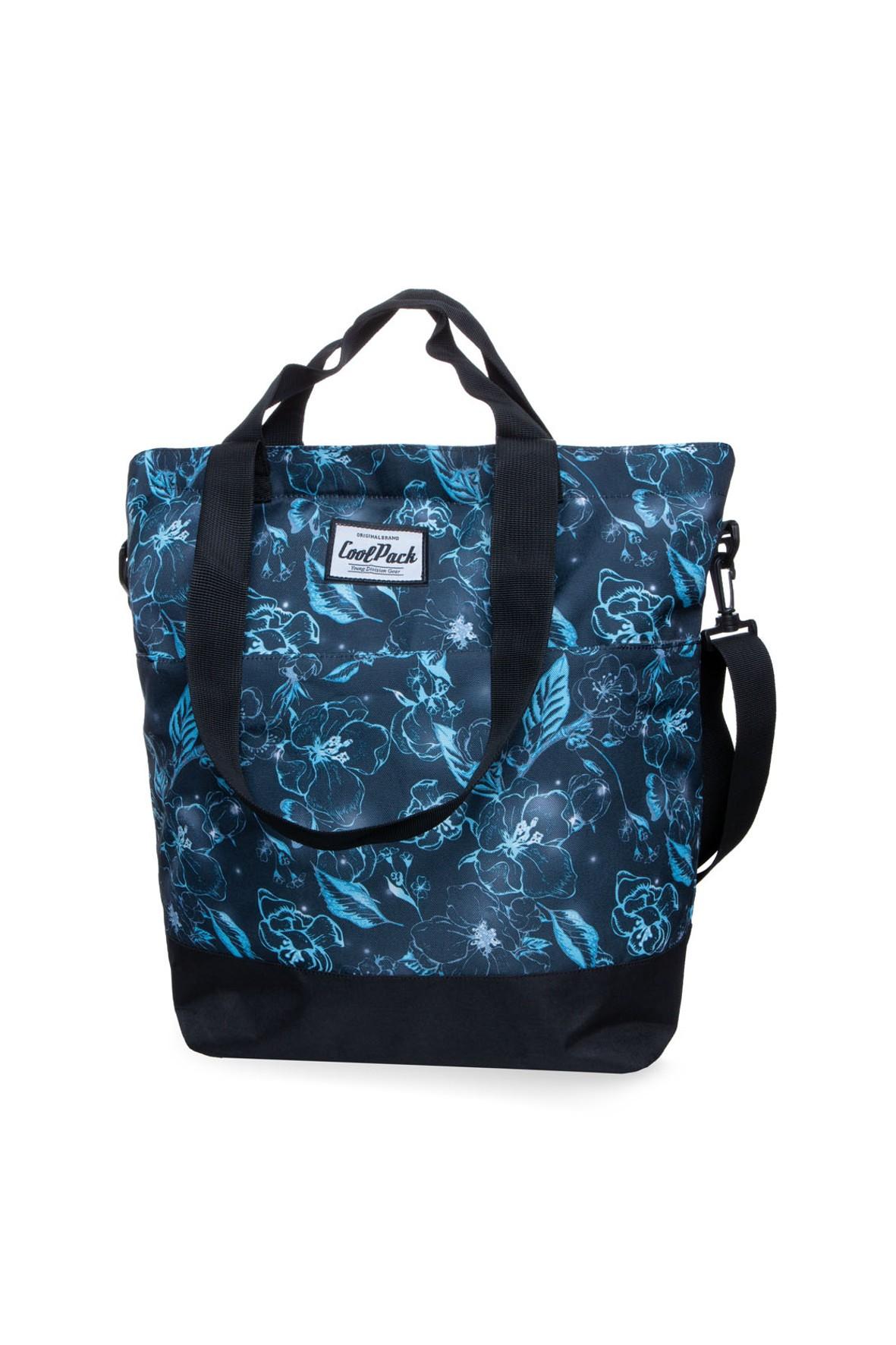 Torba na ramię Soho Underwater Dream- niebieska w kwiaty