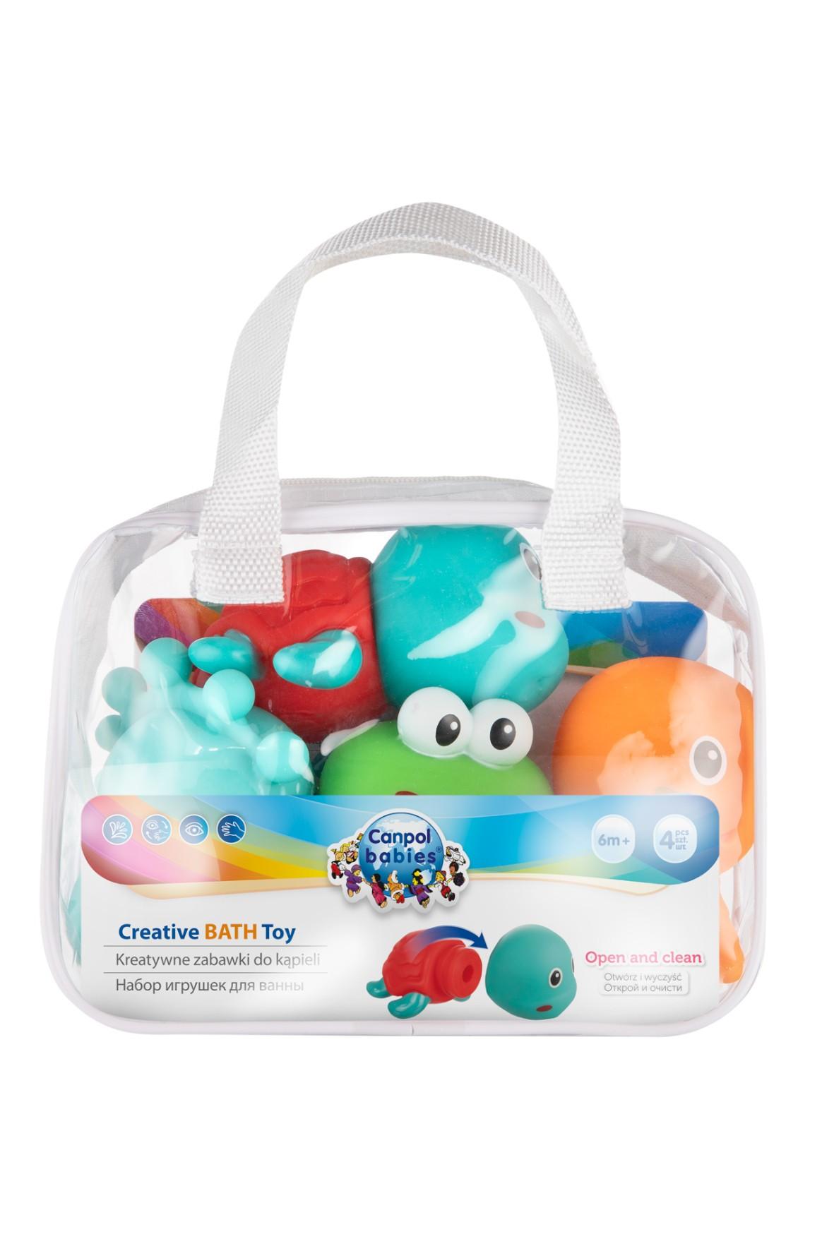 Zestaw zabawek kreatywnych do kąpieli ocean - 4 szt
