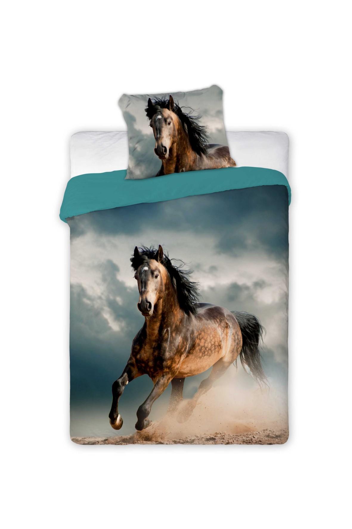 Pościel bawełniana Koń i galopie 140x200+70x80cm