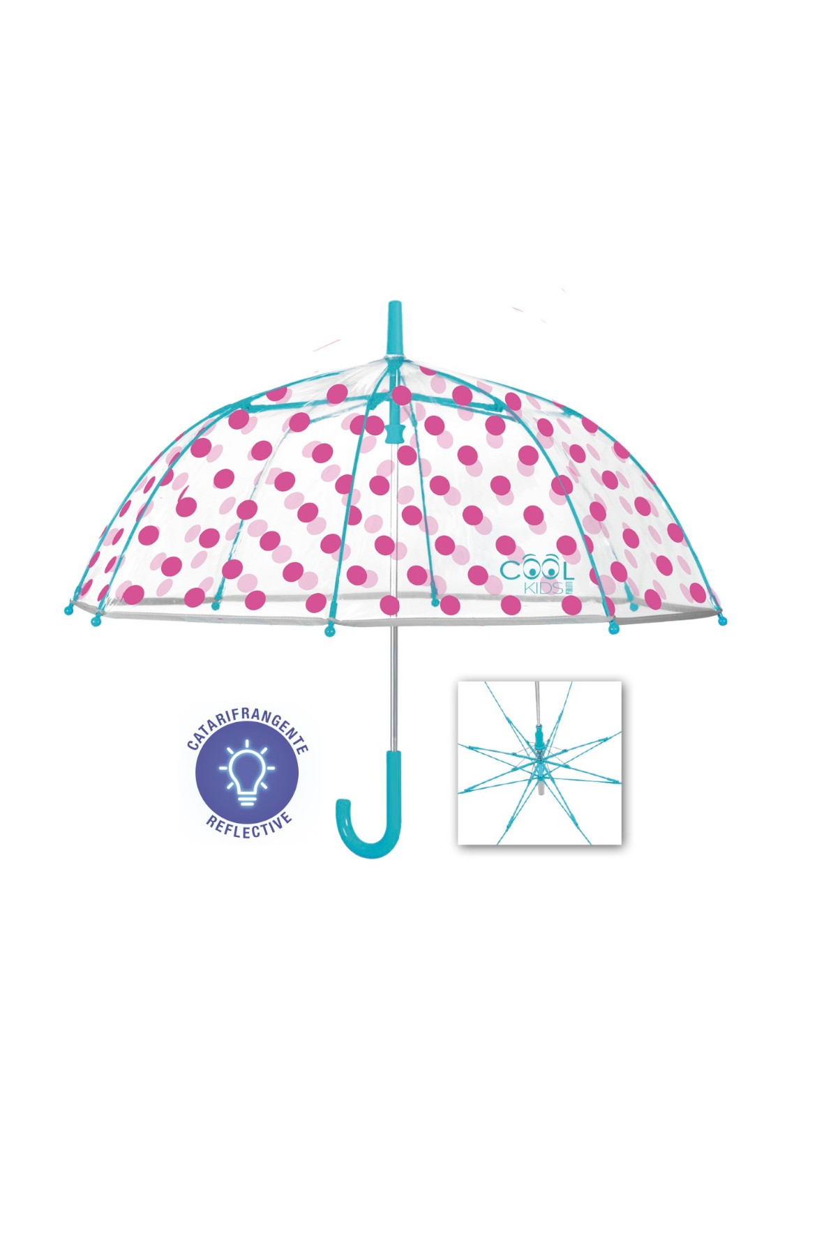 Parasolka dziewczęca w różowe grochy Coolkids