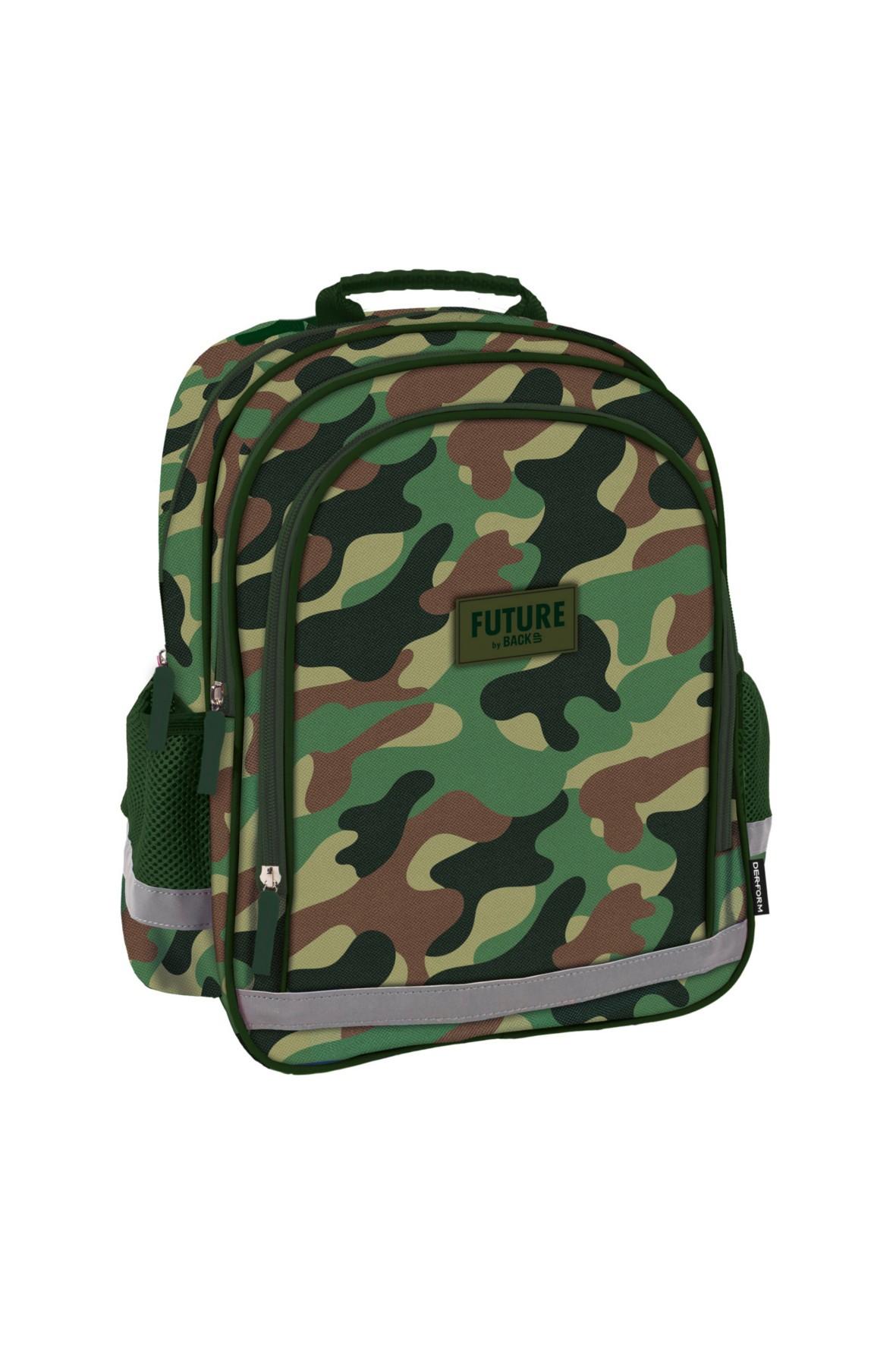 Plecak chłopięcy szkolny wzór moro