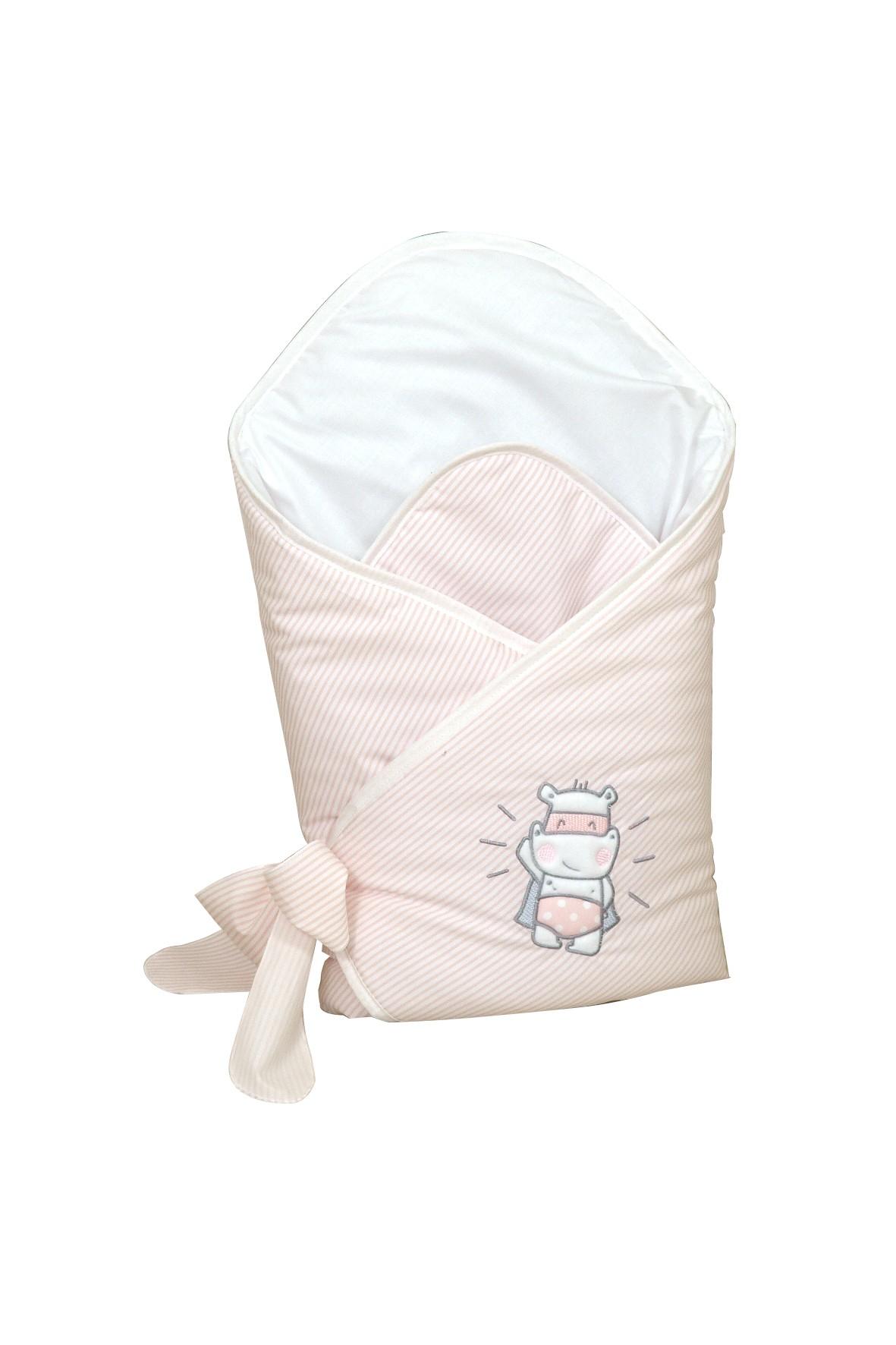 Becik usztywniany dla dziecka Amy Hero Pink