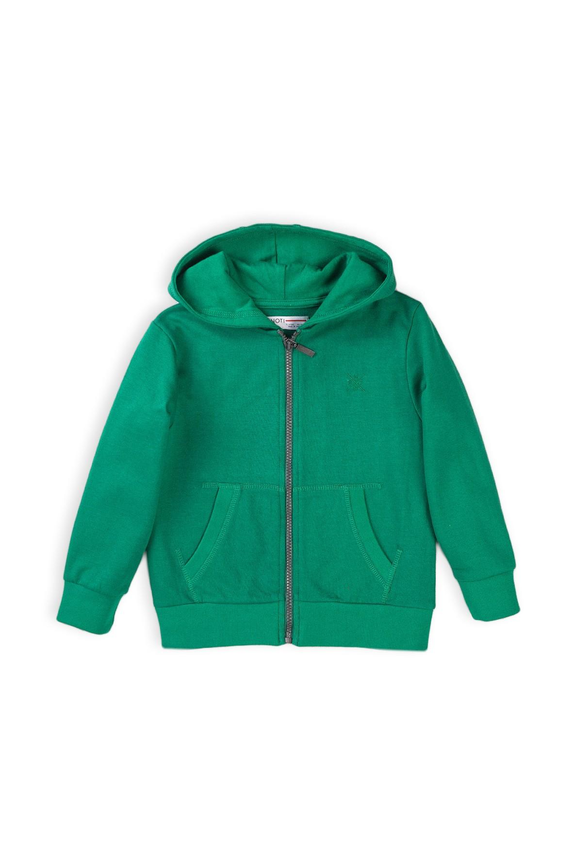 Bluza dresowa chłopięca z kapturem zielona