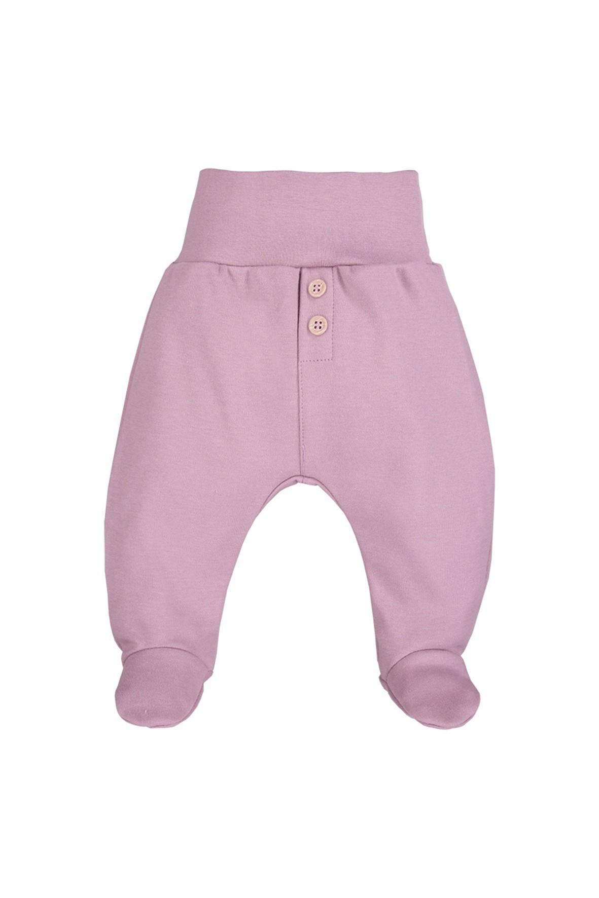 Półśpiochy niemowlęce bawełniane -  wrzosowe