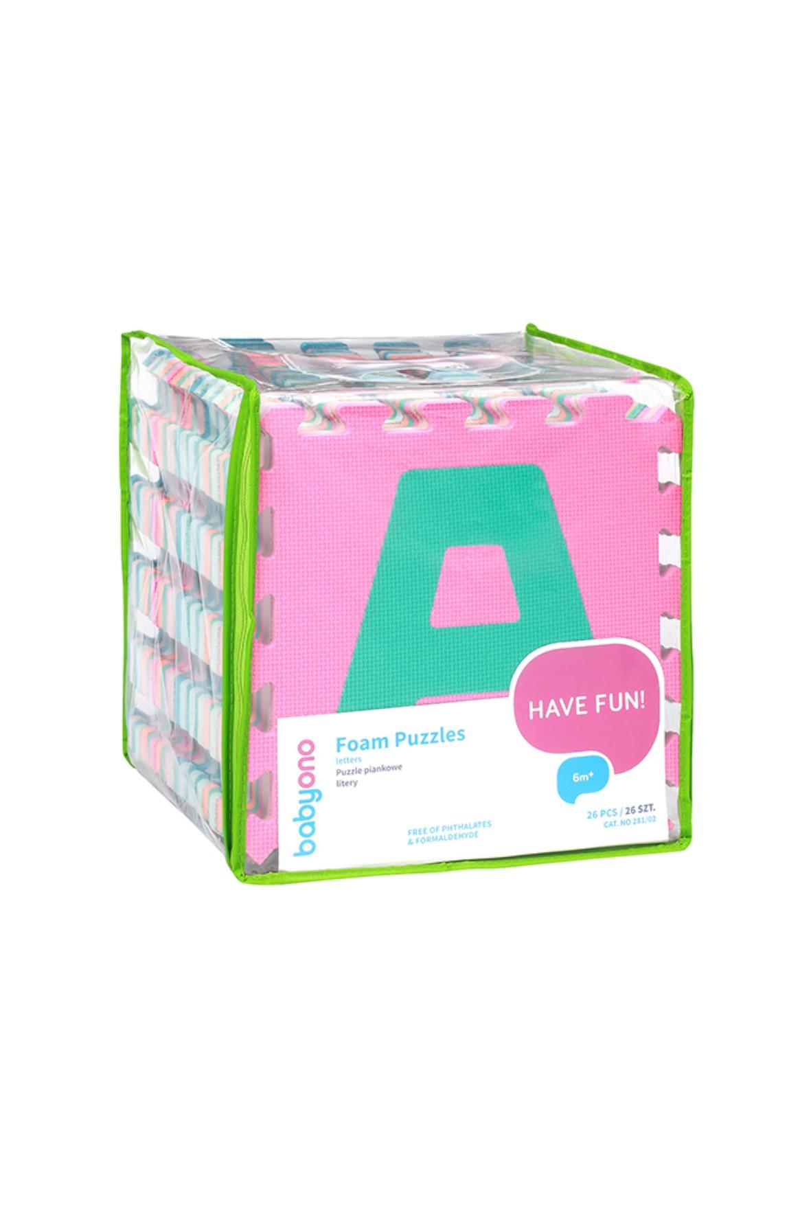 Puzzle piankowe alfabet 26el kontrastowe