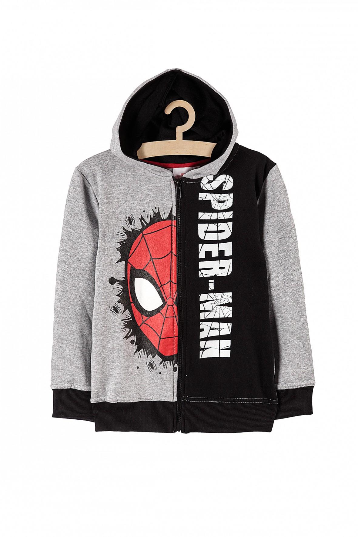 Bluza chłopięca dresowa rozpinana Spiderman