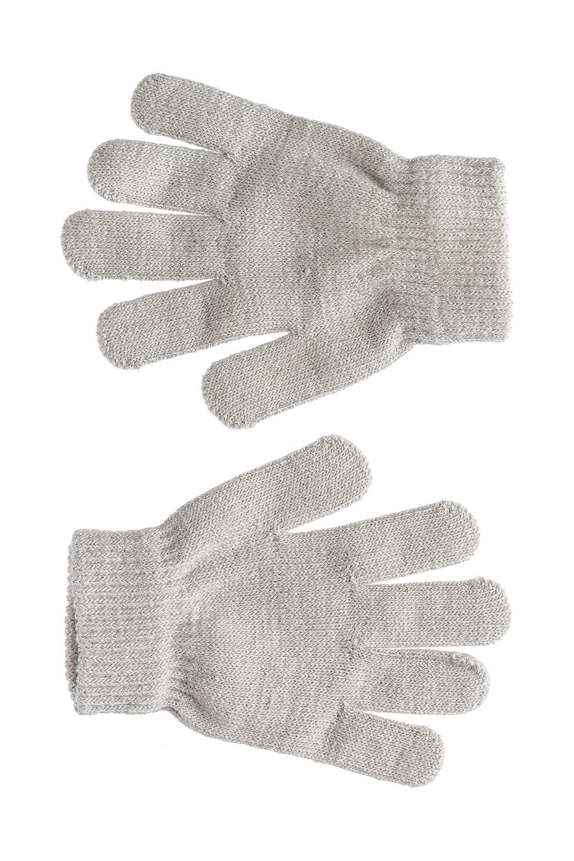 Rękawiczki dziewczęce szare