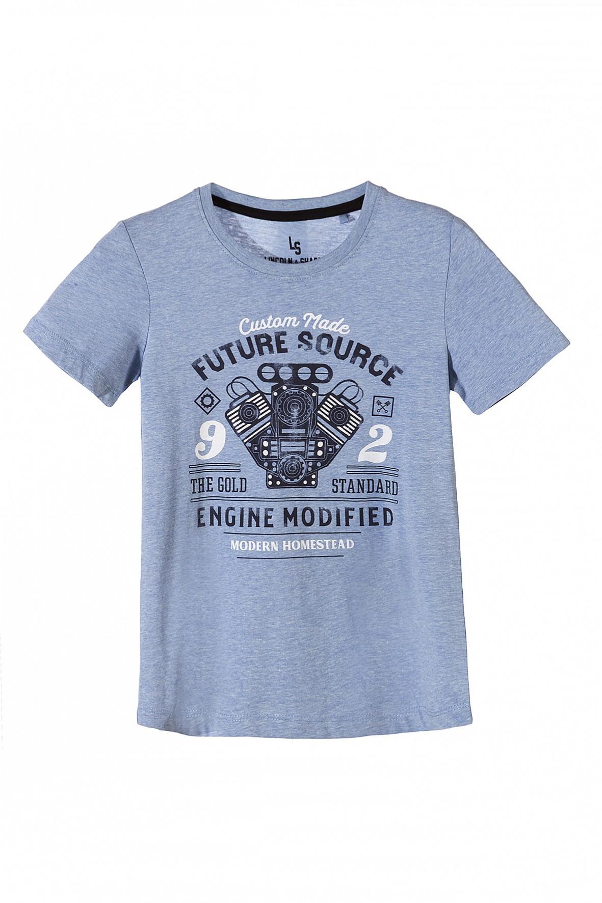 T-shirt dla chłopca z młodzieżowym nadrukiem z przodu