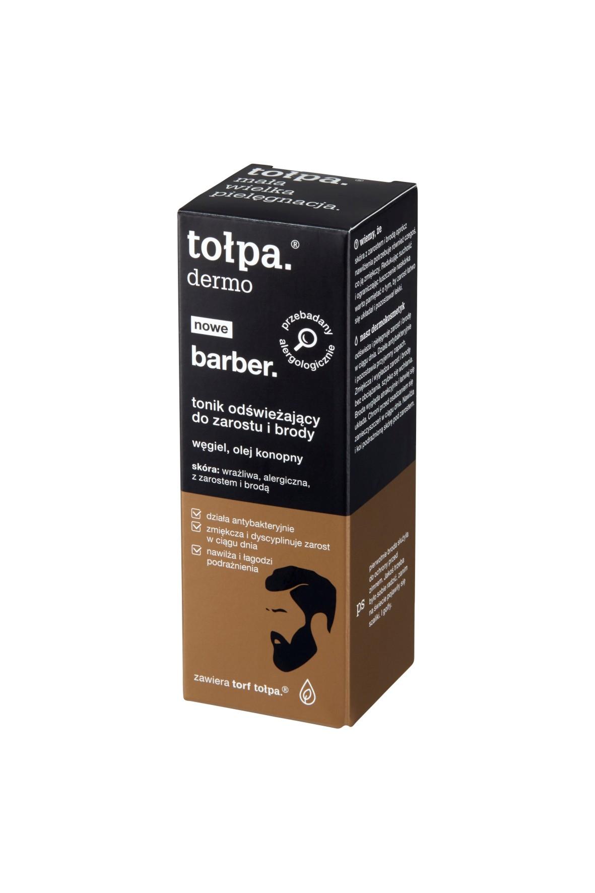 Tołpa dermo barber Tonik odświeżający do zarostu i brody 75 ml
