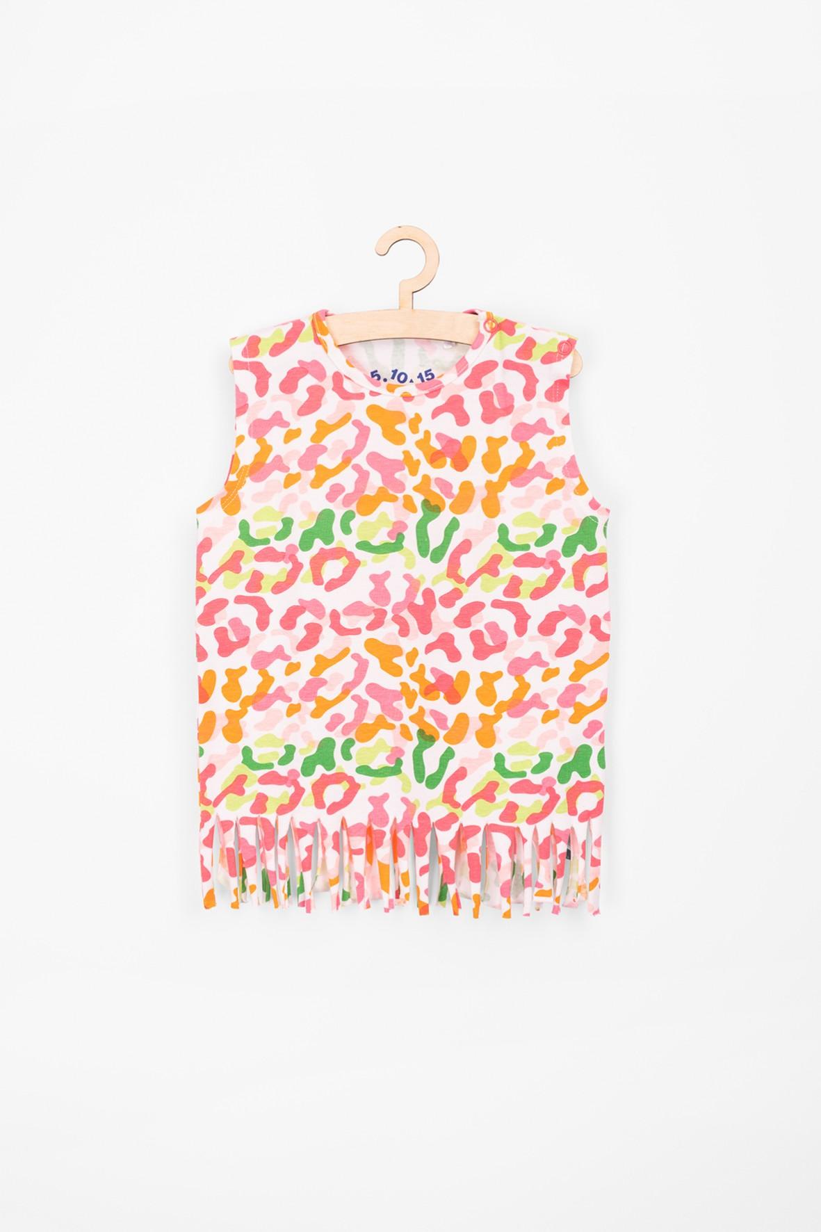 Koszulka niemowlęca- kolorowa panterka