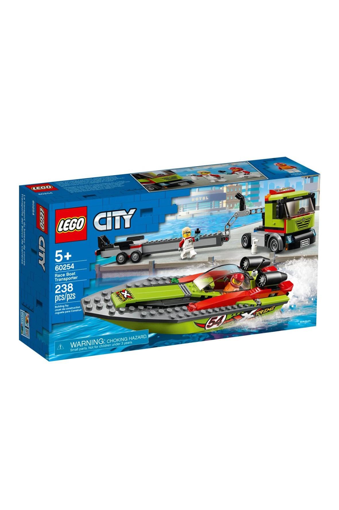 Lego City - Transporter łodzi wyścigowej - 238 el wiek 5+