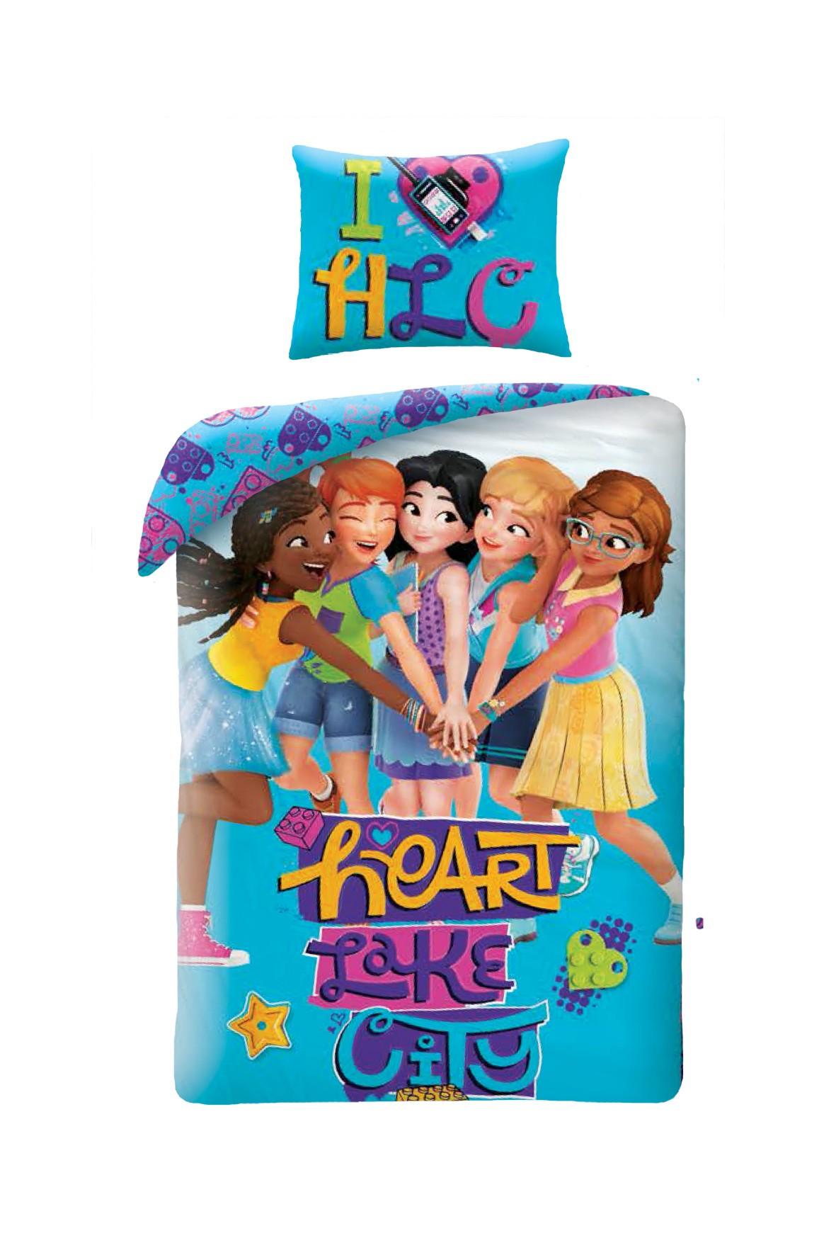 Pościel dla dziewczynki Lego Friends 140x200cm+70x90cm