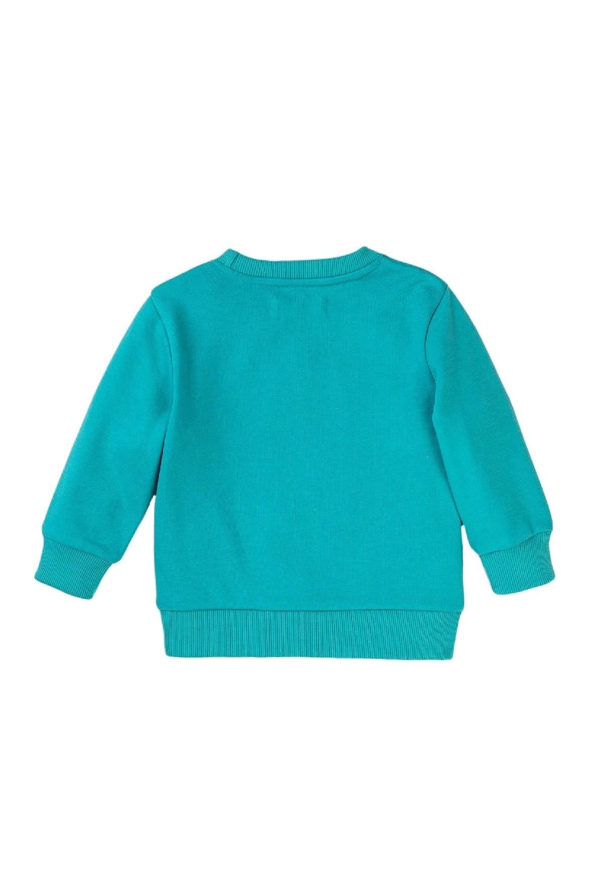 Bluza dresowa chłopięca turkusowa