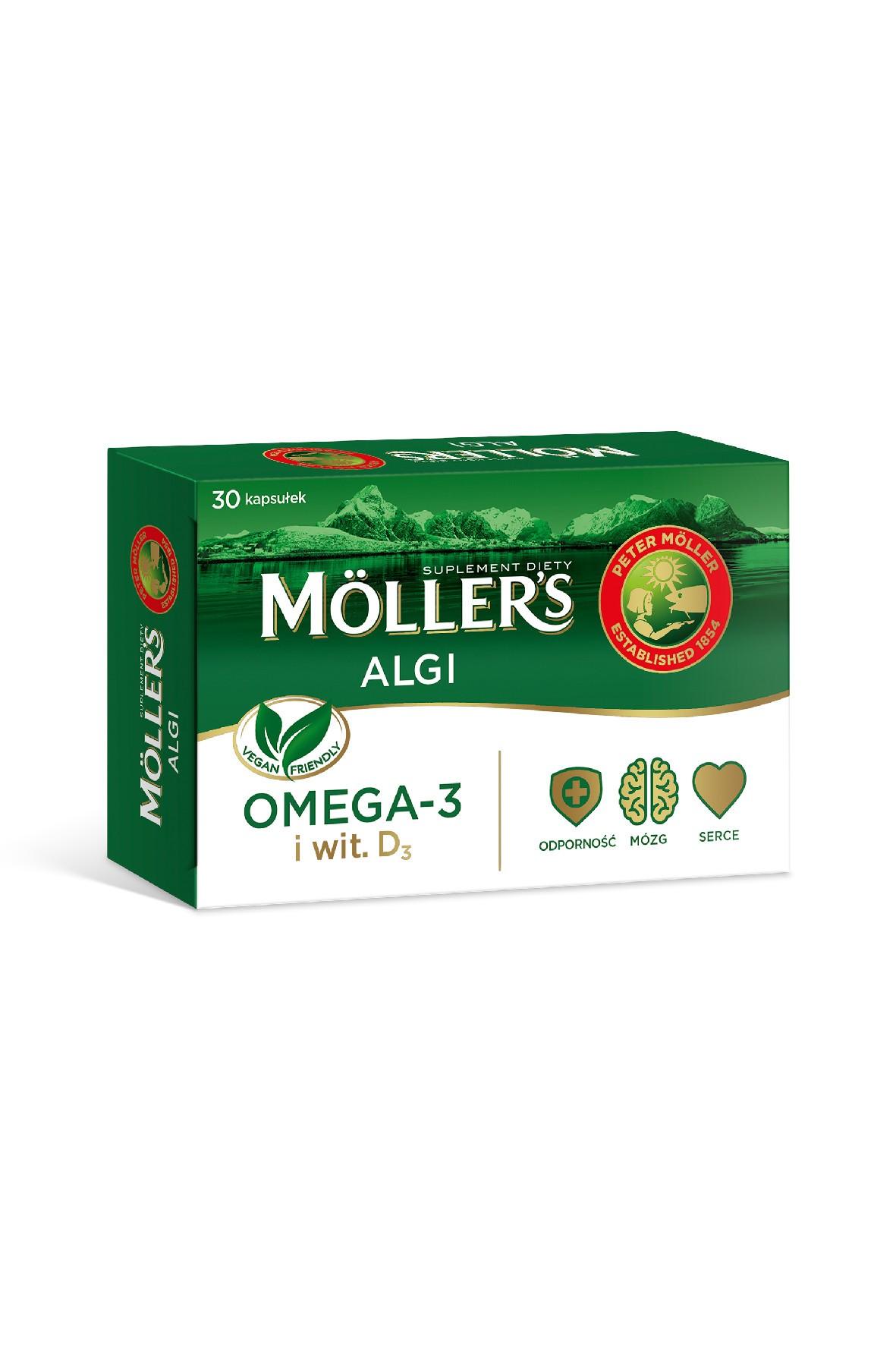 Möller's Algi dla osób na diecie wegańskiej 30 szt.