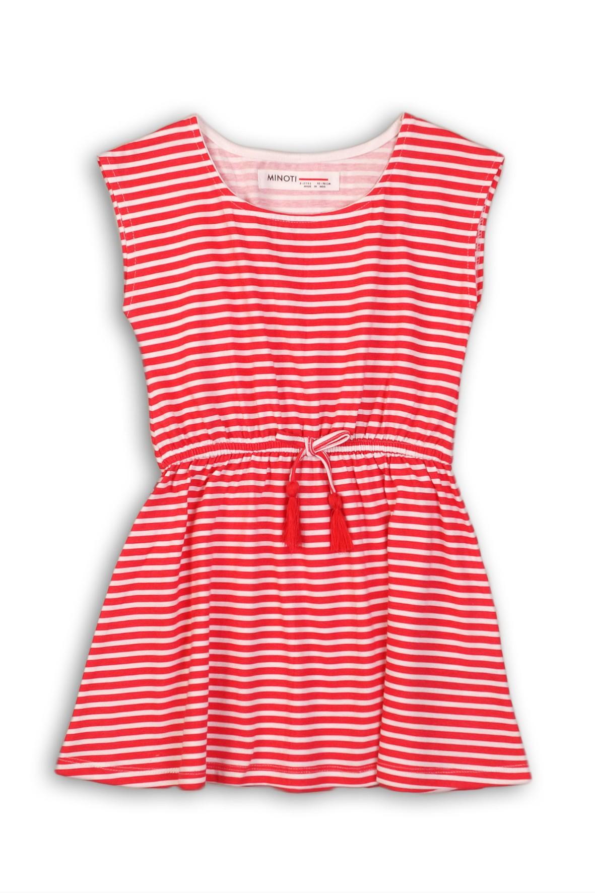 498c335237 Sukienka dziewczęca bawełniana na lato w czerwono-białe paski ...