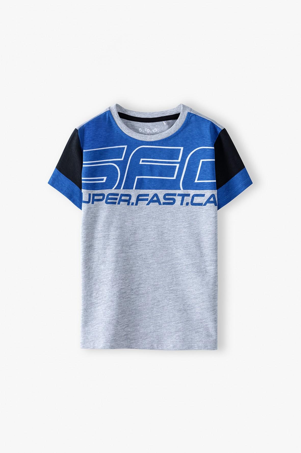 T-shirt chłopięcy bawełniany dla chłopca