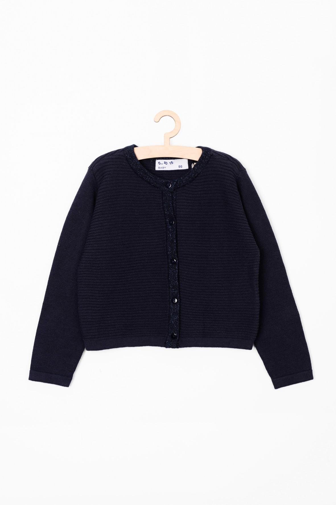 Elegancki granatowy sweter dla dziewczynki