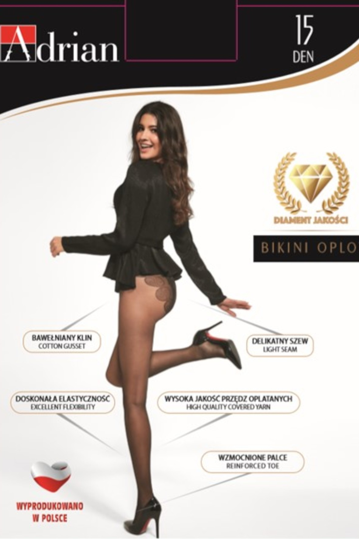 Rajstopy damskie Bikini  20 DEN - beżowe