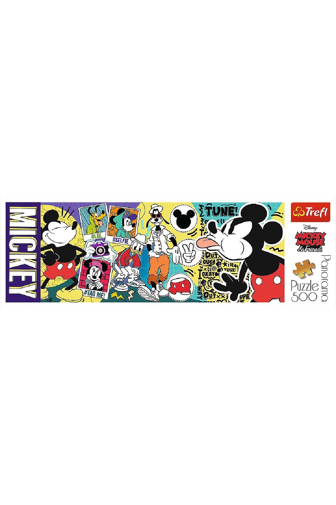 Puzzle  Panorama - Legendarna Myszka Miki - 500 elementów