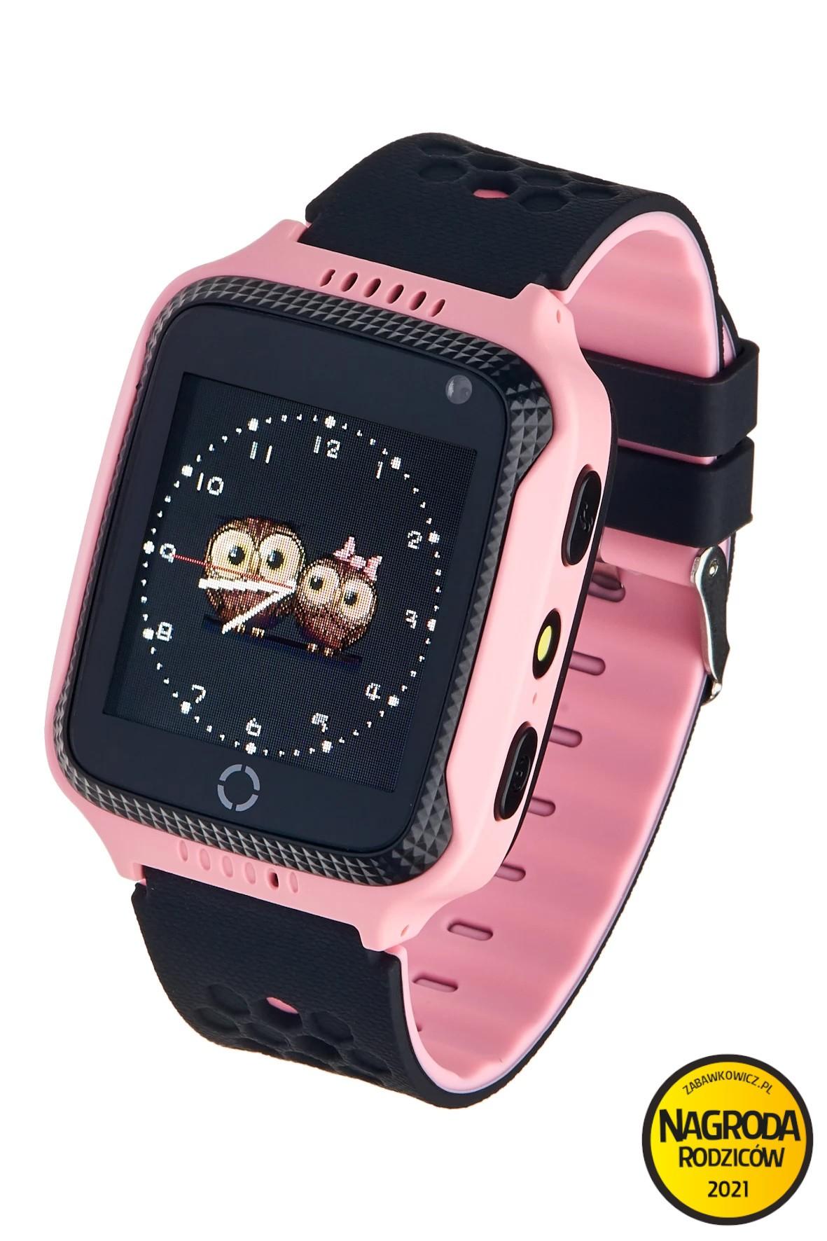 Smartwatch Garett GPS Junior 2- różowy