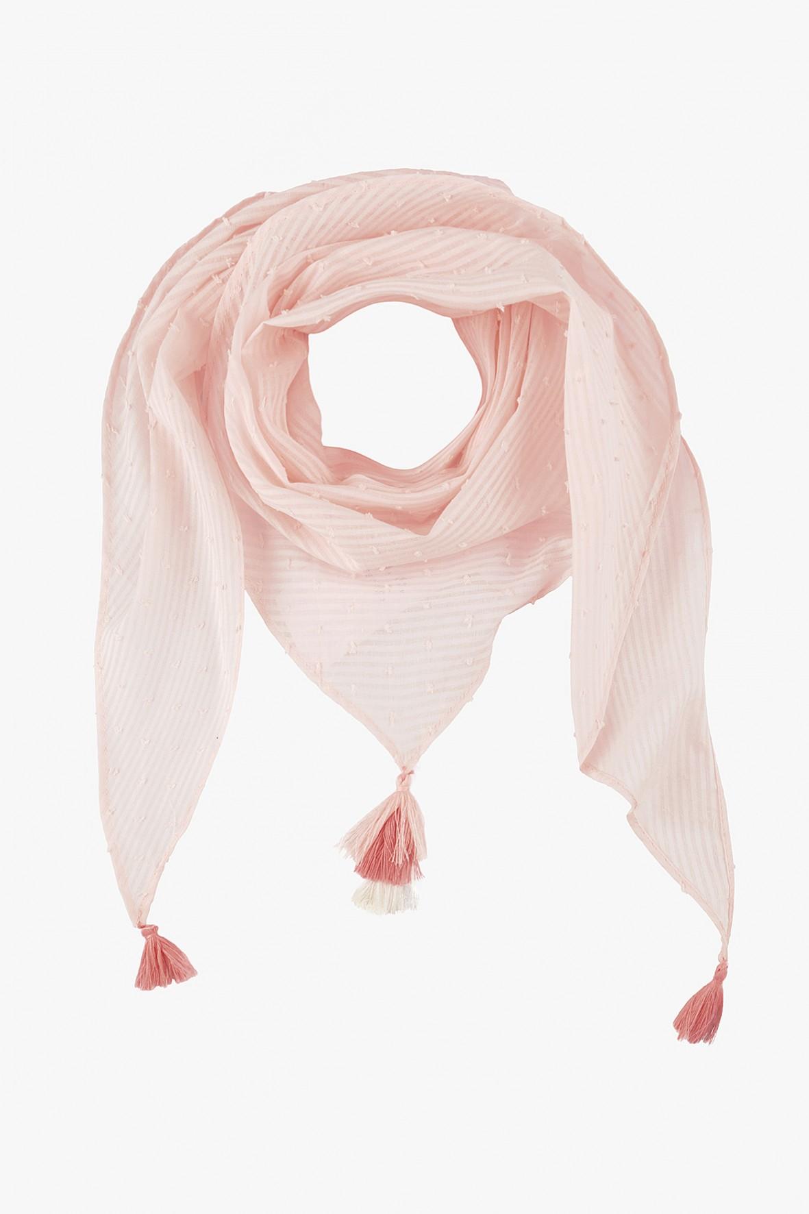 Chustka dziewczęca pod szyję- różowa