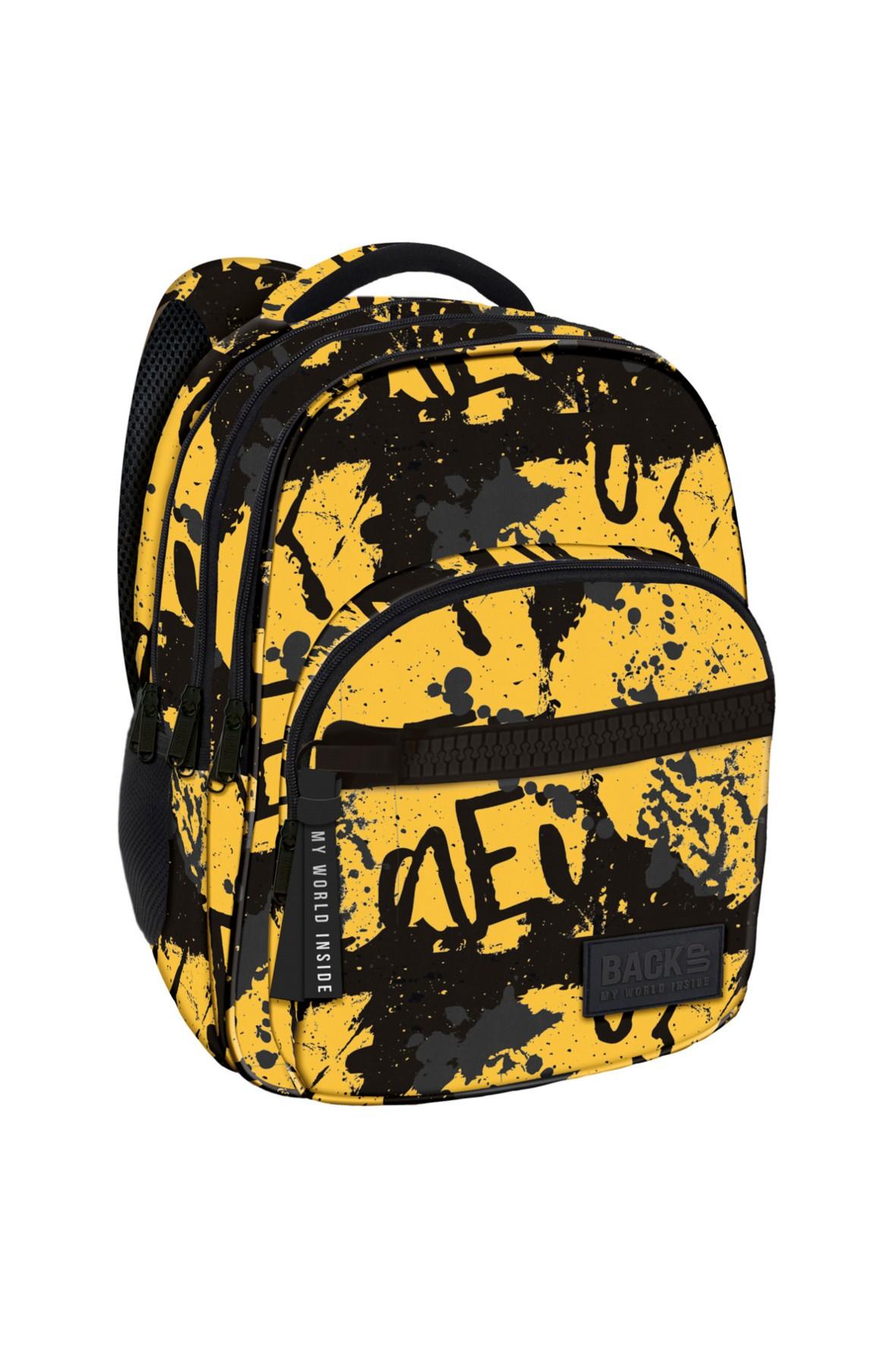 Plecak chłopięcy 3komorowy-młodzieżowe nadruki
