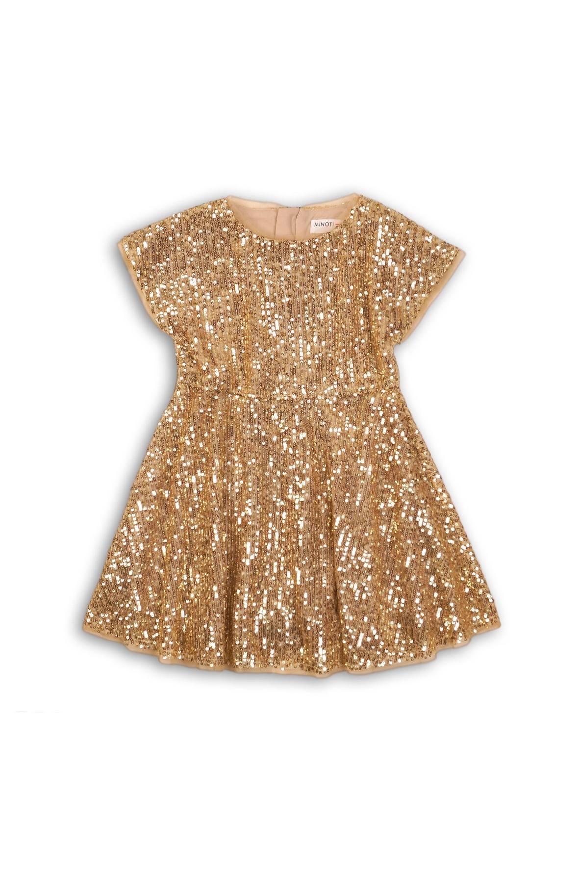 Sukienka dziecięca cekinowa- złota