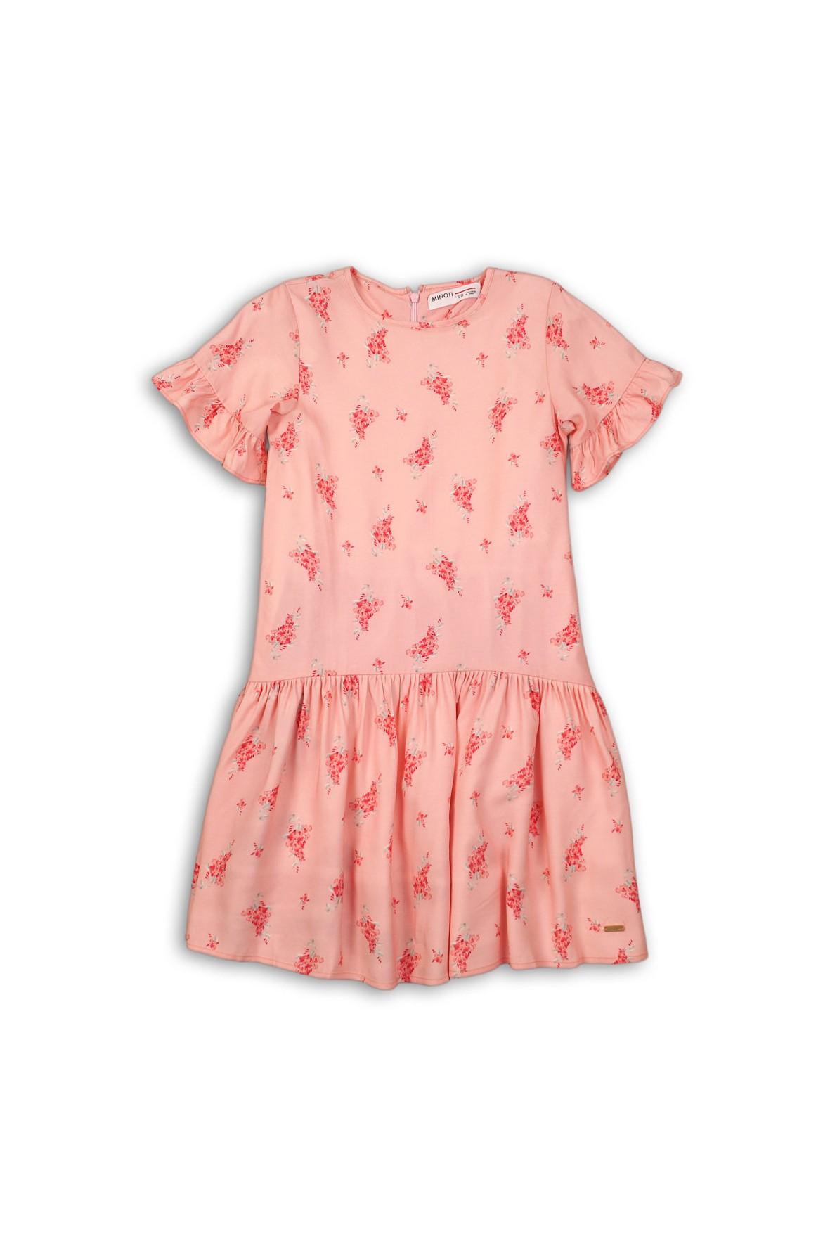 Wiskozowa sukienka w kwiaty dla dziewczynki
