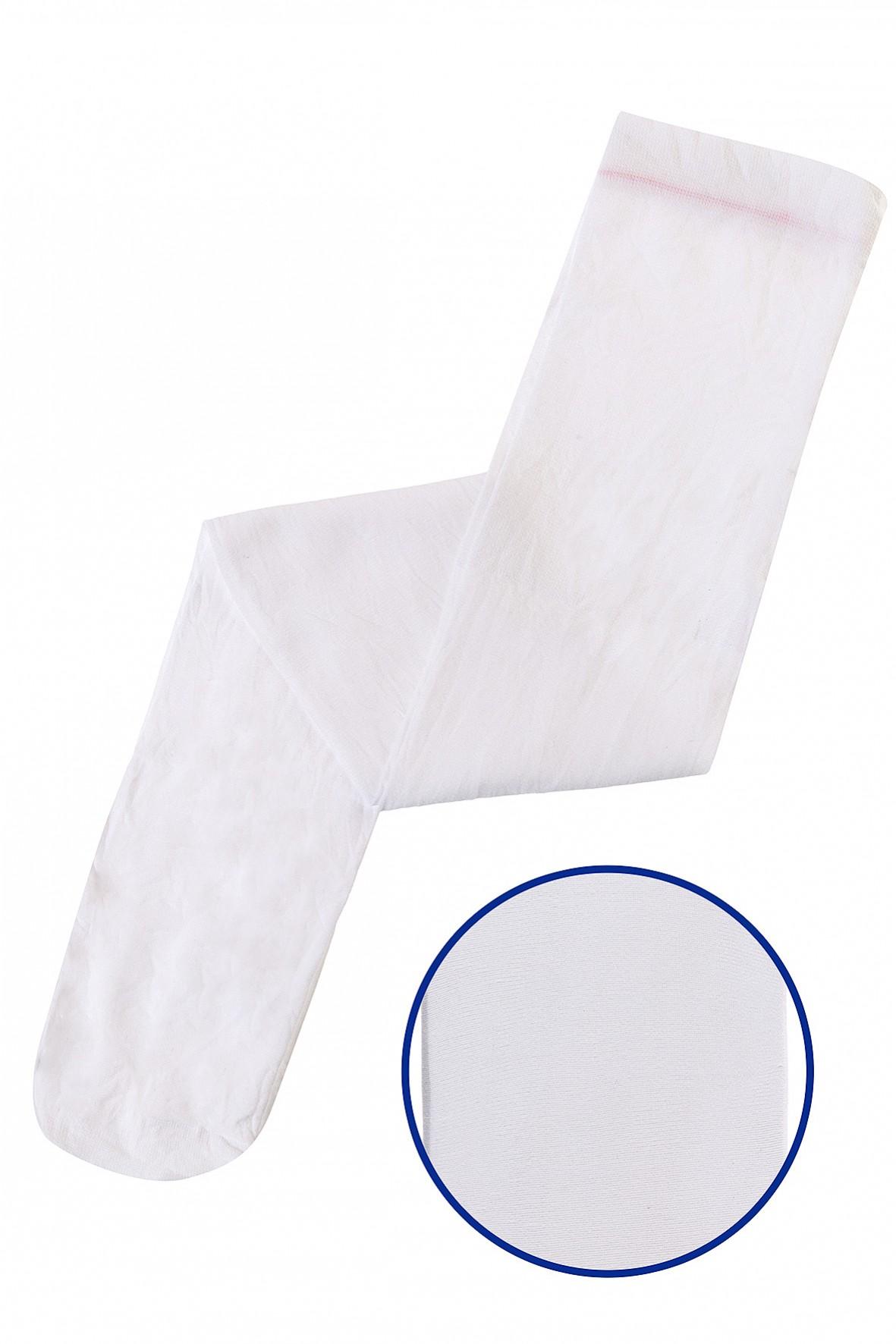 Rajstopy dziewczęce białe cienkie