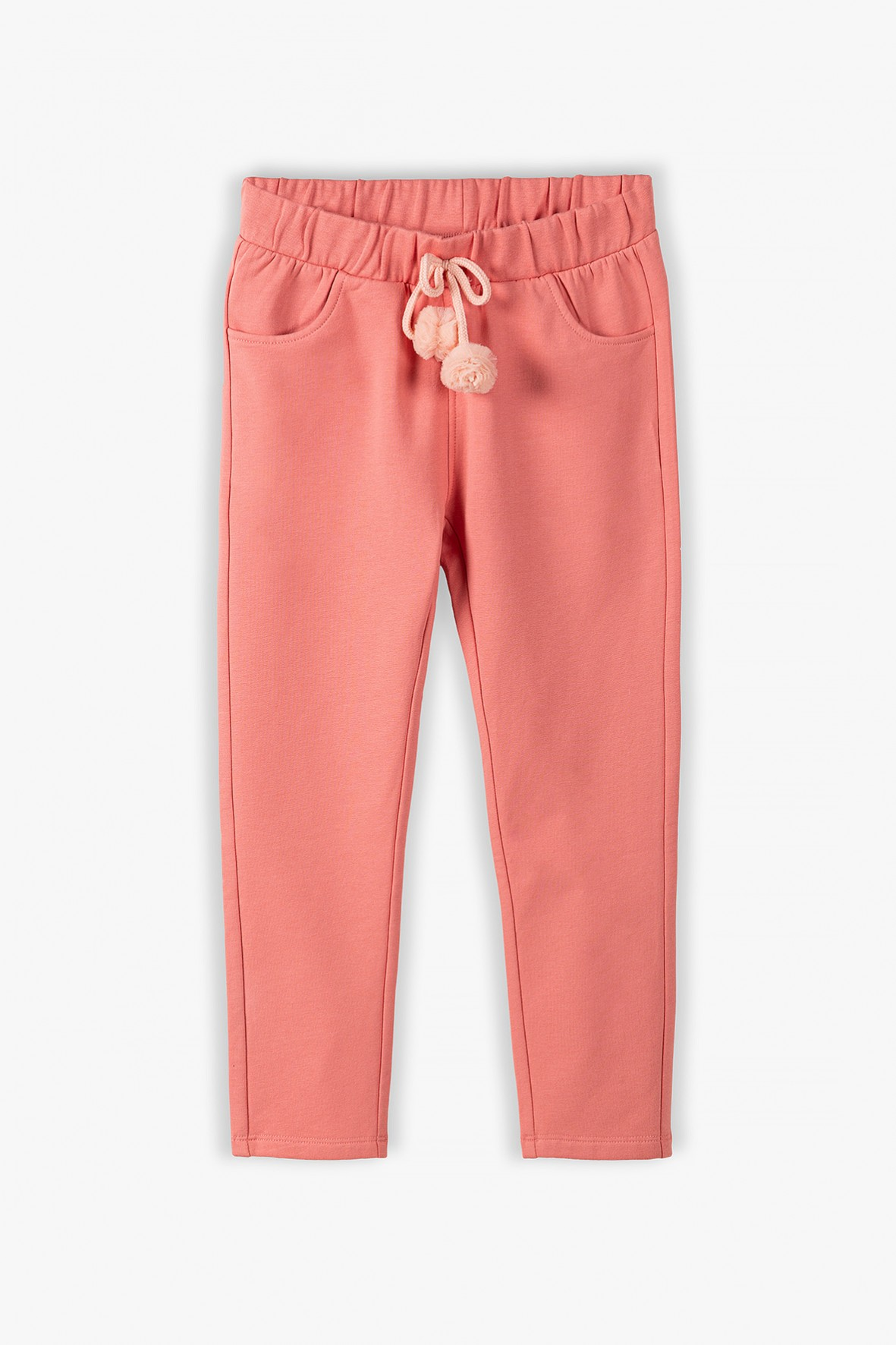 Spodnie dresowe dla dziewczynki - różowe