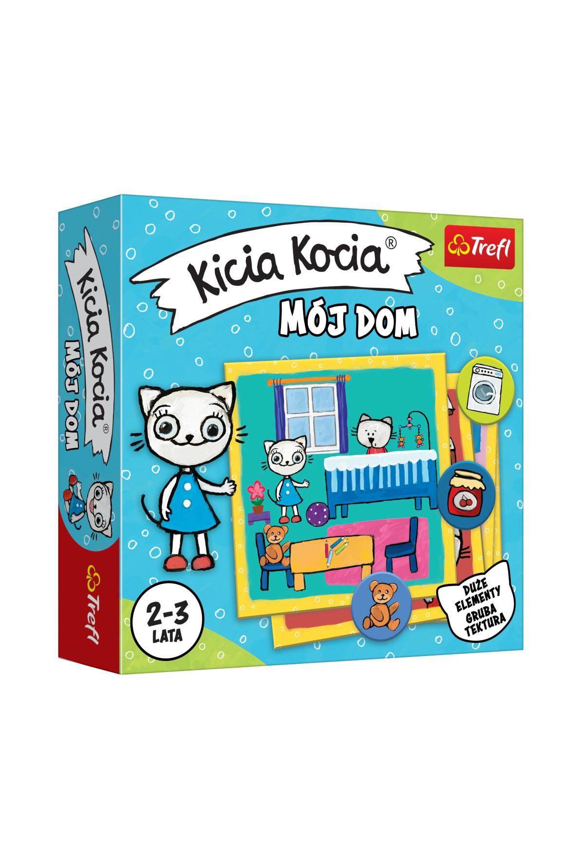 Gra dla dzieci-  Kicia Kocia Mój dom wiek 2-3 lata