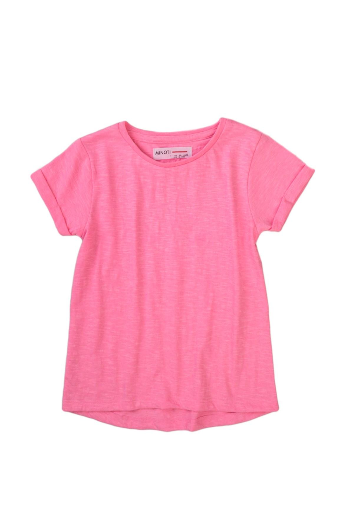 T-shirt dziewczęcy klasyczny różowy- 100% bawełna