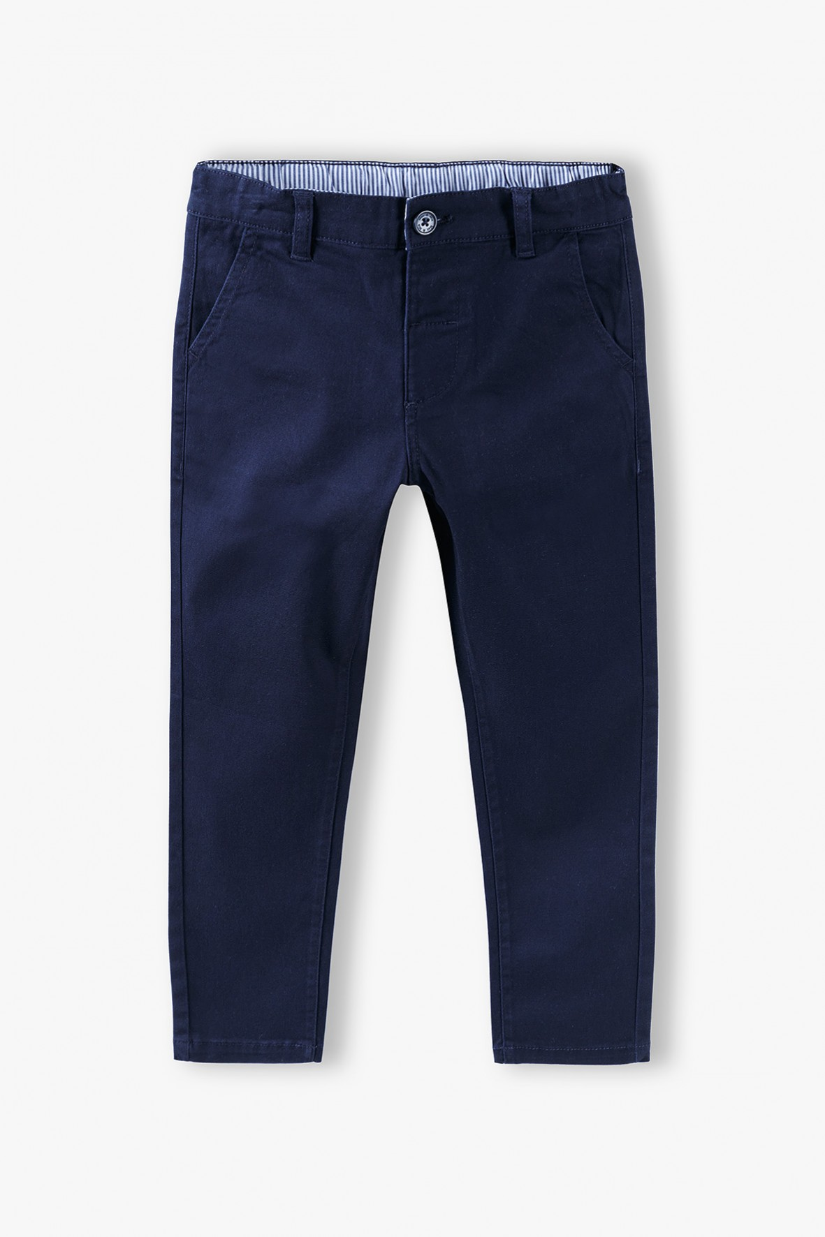 Eleganckie spodnie chłopięce - granatowe