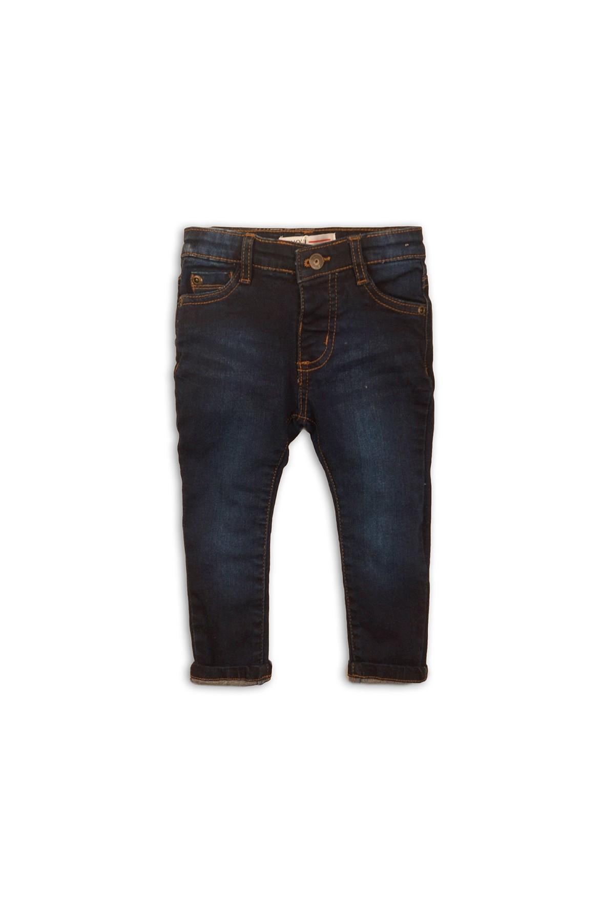Spodnie niemowlęce jeansowe- granatowe