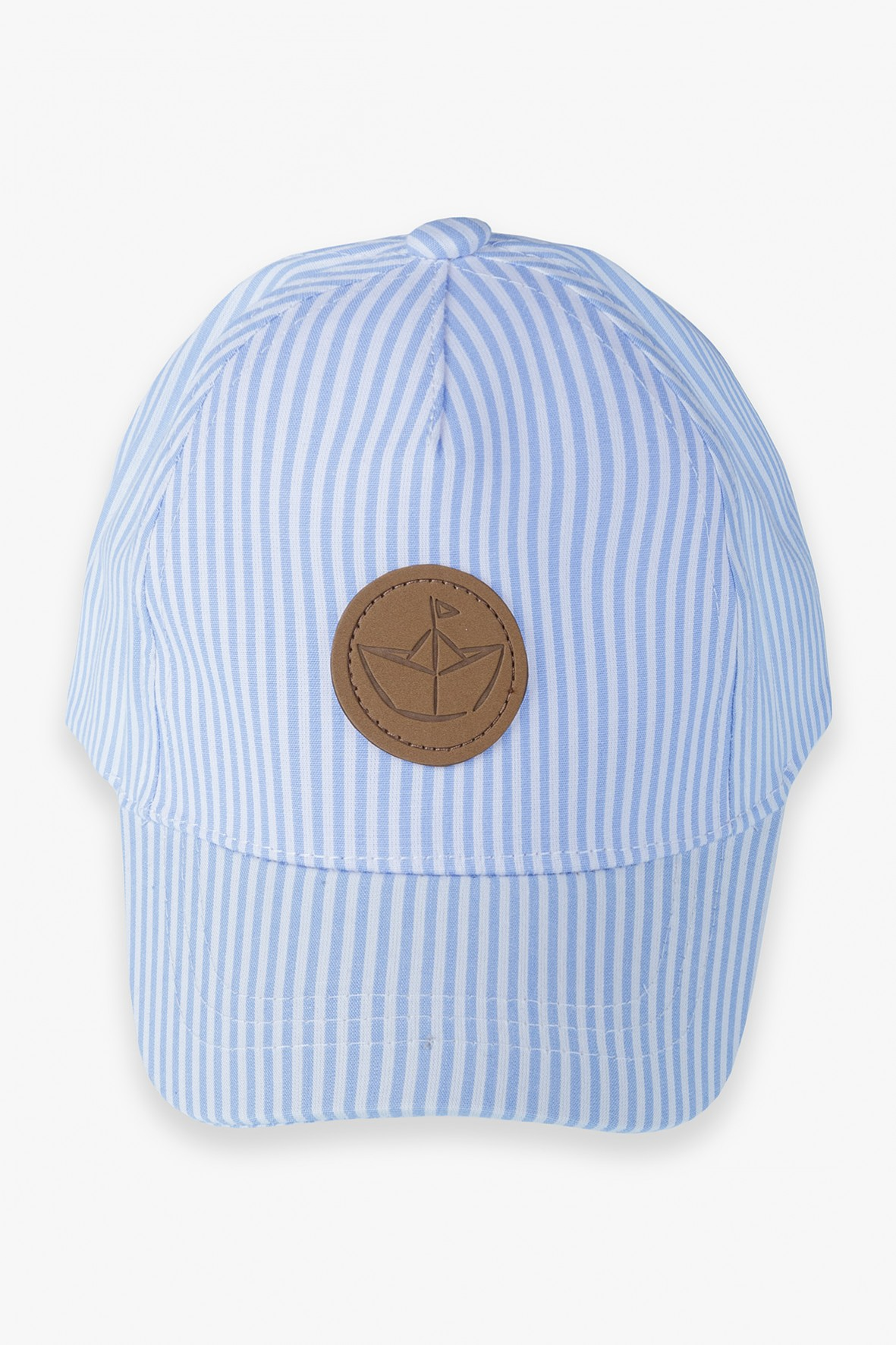 Czapka z daszkiem- niebieska w paski