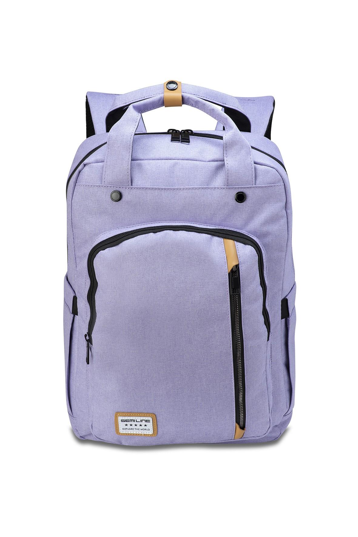 Plecak na laptop fioletowy Semi Line