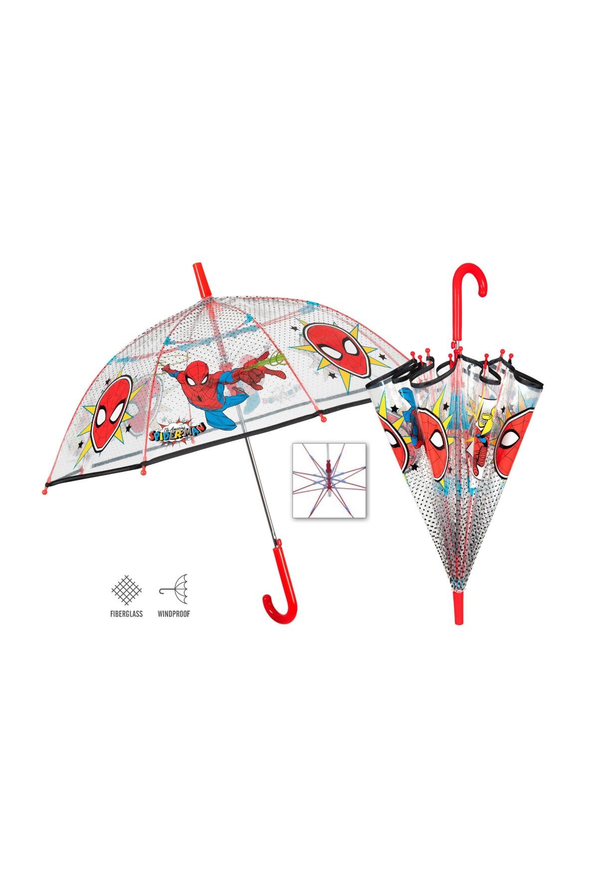 Parasol automatyczny- transparentny Spiderman