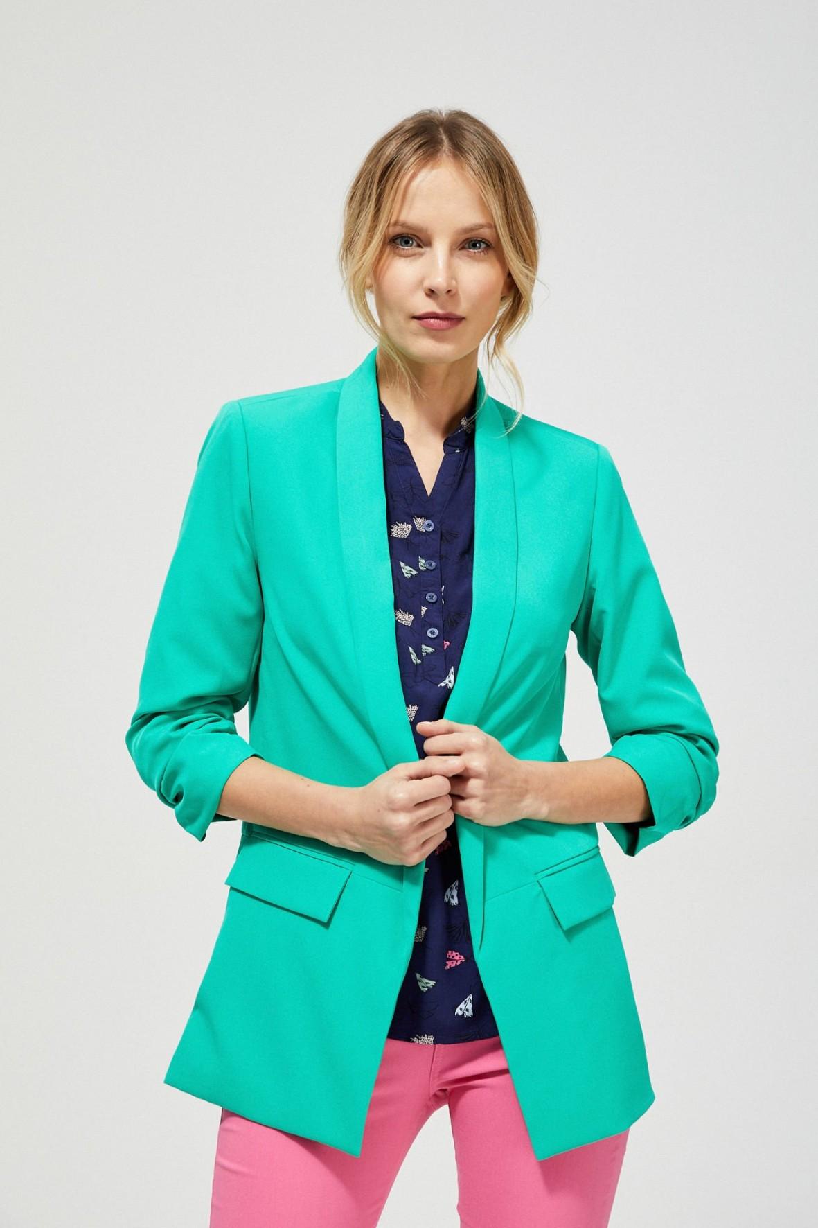 Klasyczna marynarka damska zielona